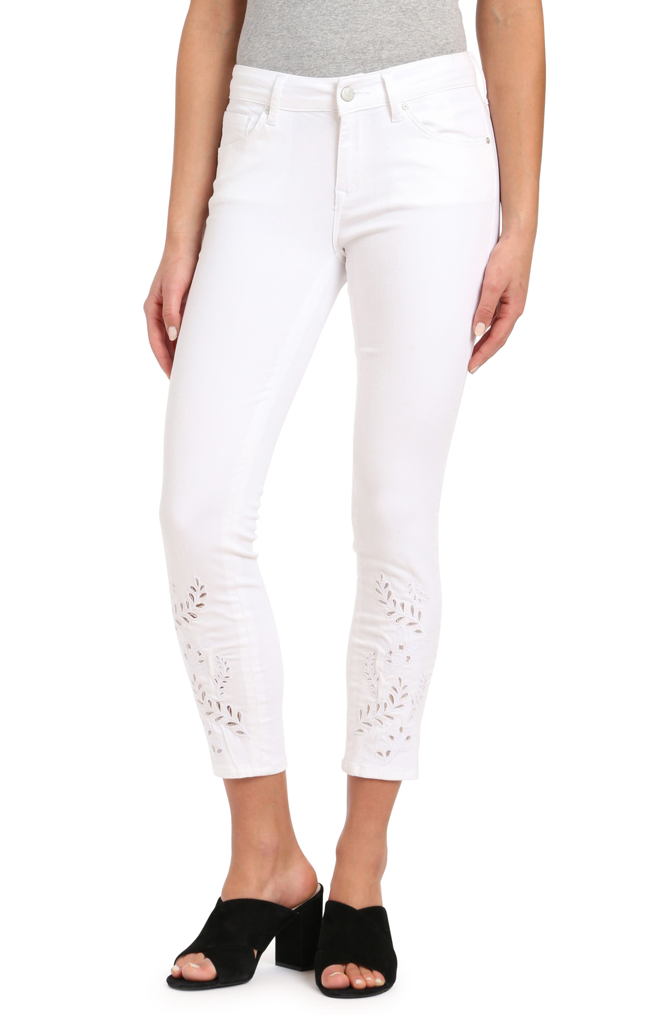 Mavi Jeans Adriana Eyelet Ankle Super Skinny Jeans (Deco)