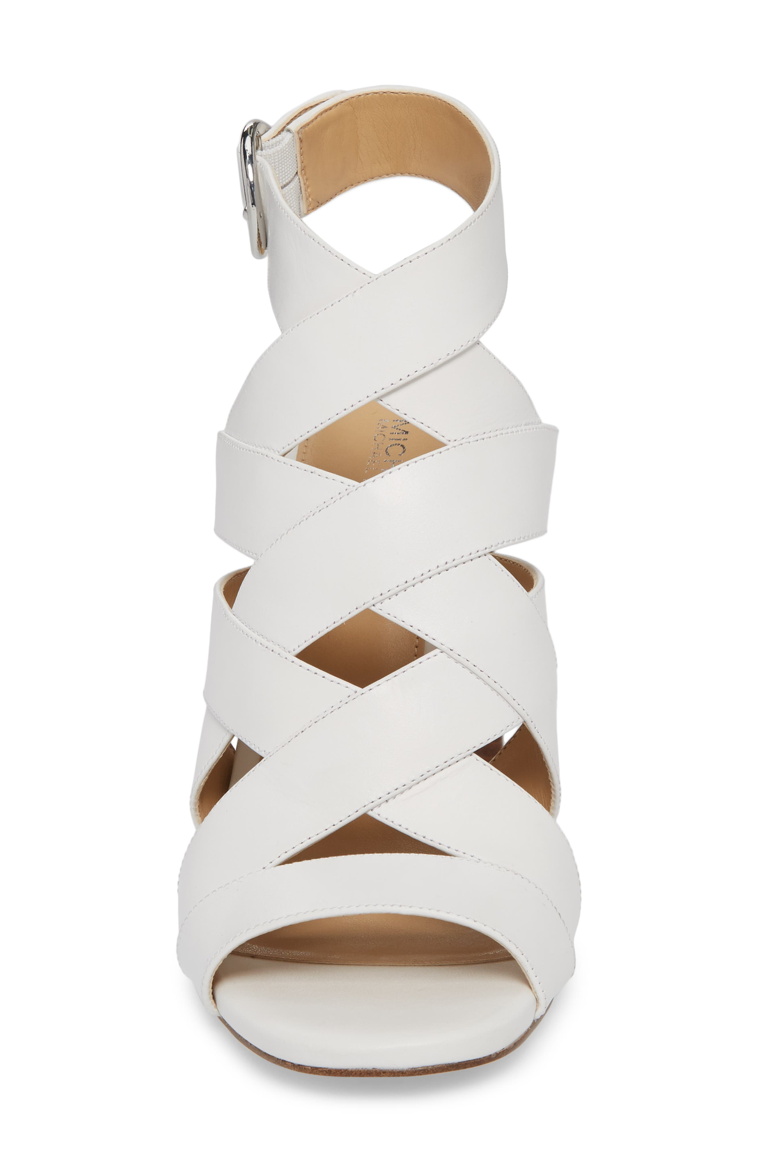 Alana Sandal,                             Alternate thumbnail 4, color,                             Optic White Leather
