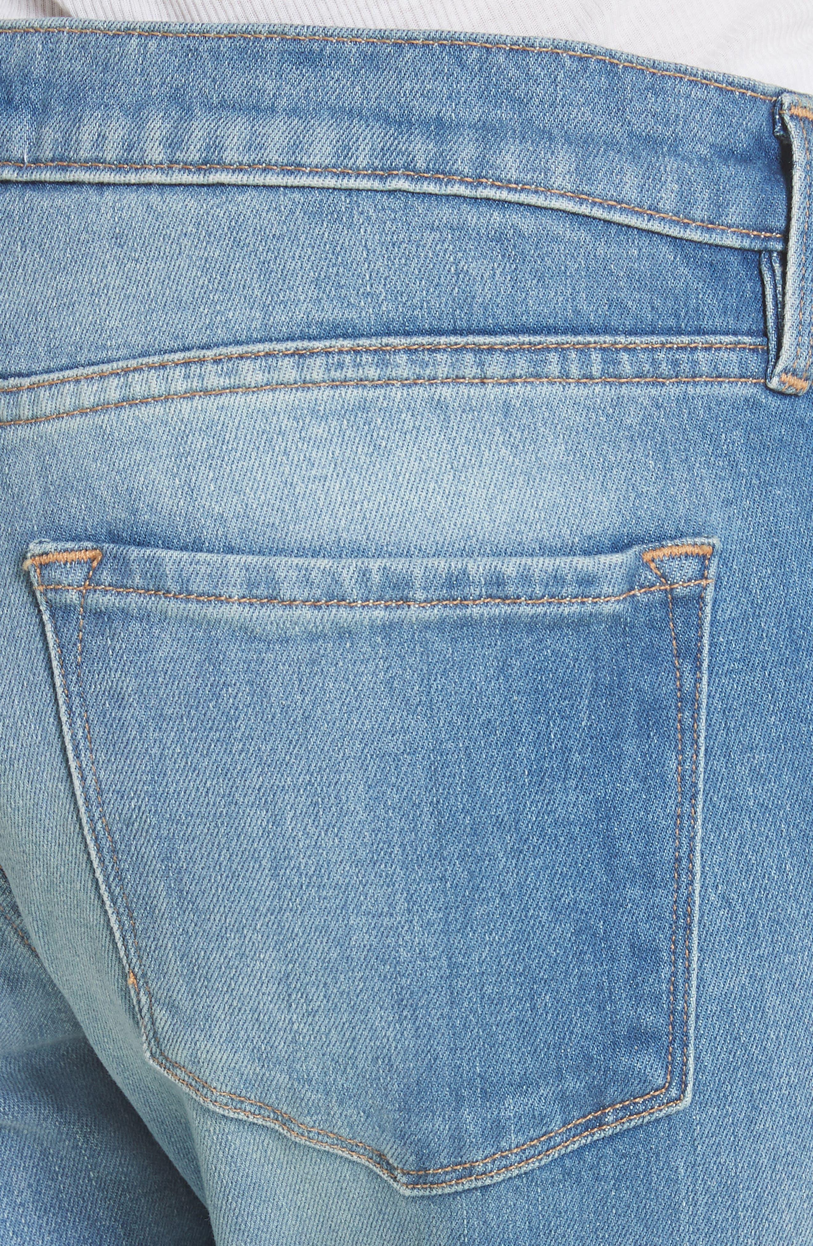 Le Garcon Crop Slim Boyfriend Jeans,                             Alternate thumbnail 4, color,                             Silva