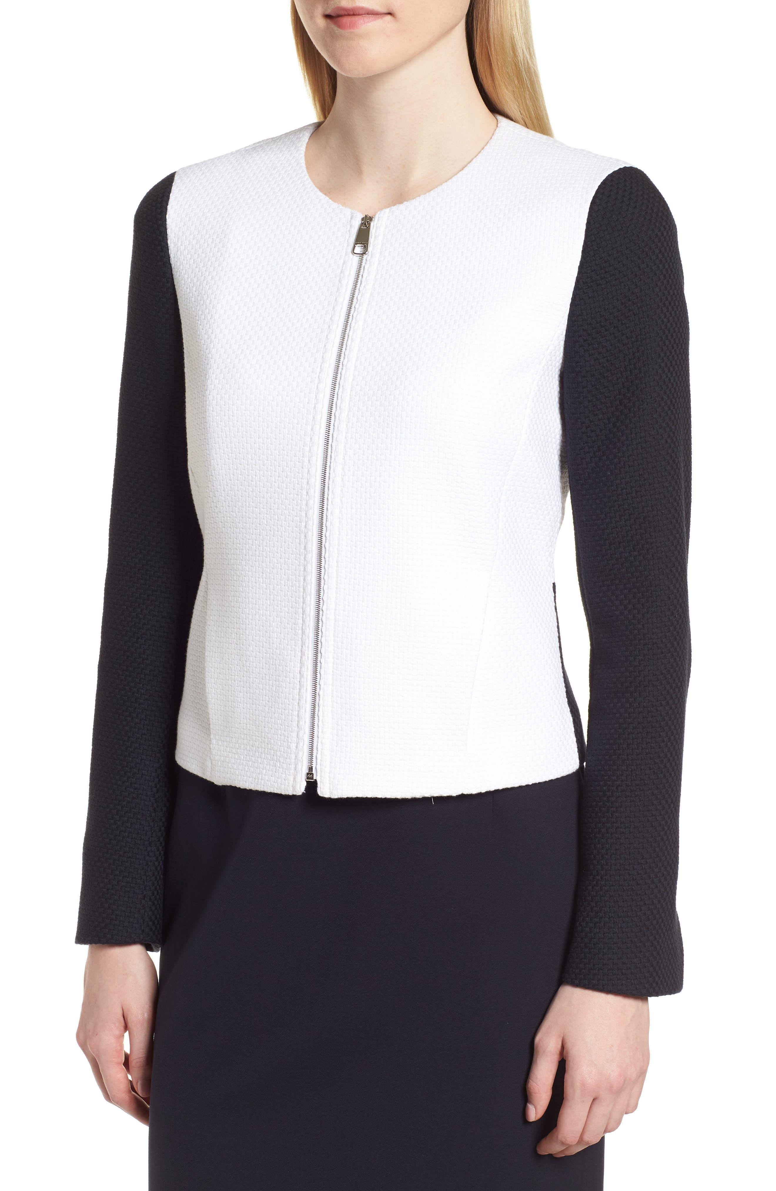 Alternate Image 4  - BOSS Coralie Colorblock Jacket