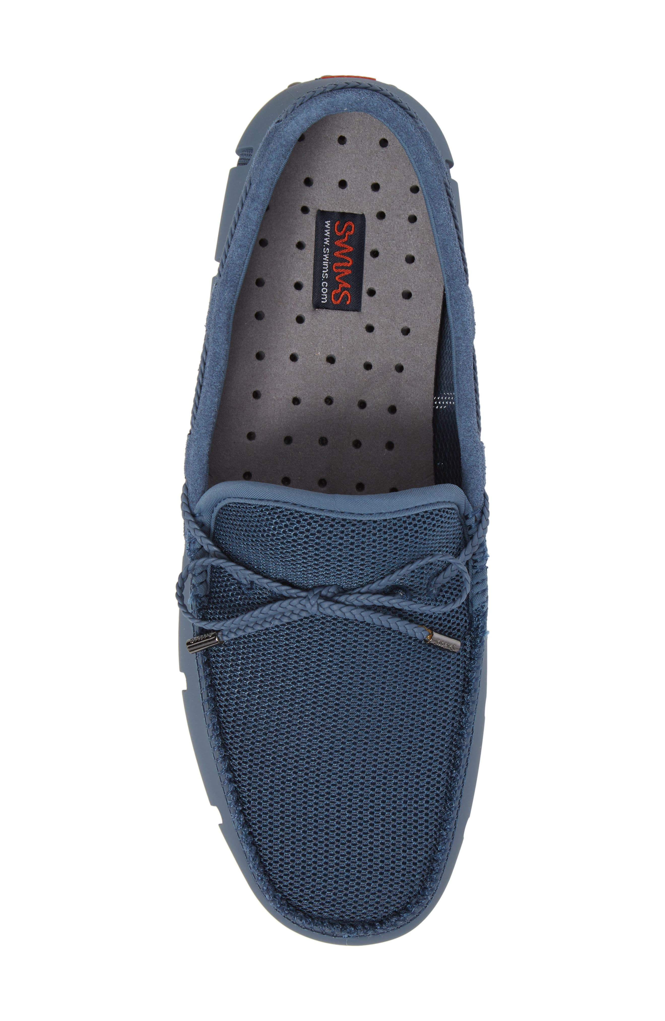 Washable Driving Loafer,                             Alternate thumbnail 5, color,                             Slate/ Grey Fabric