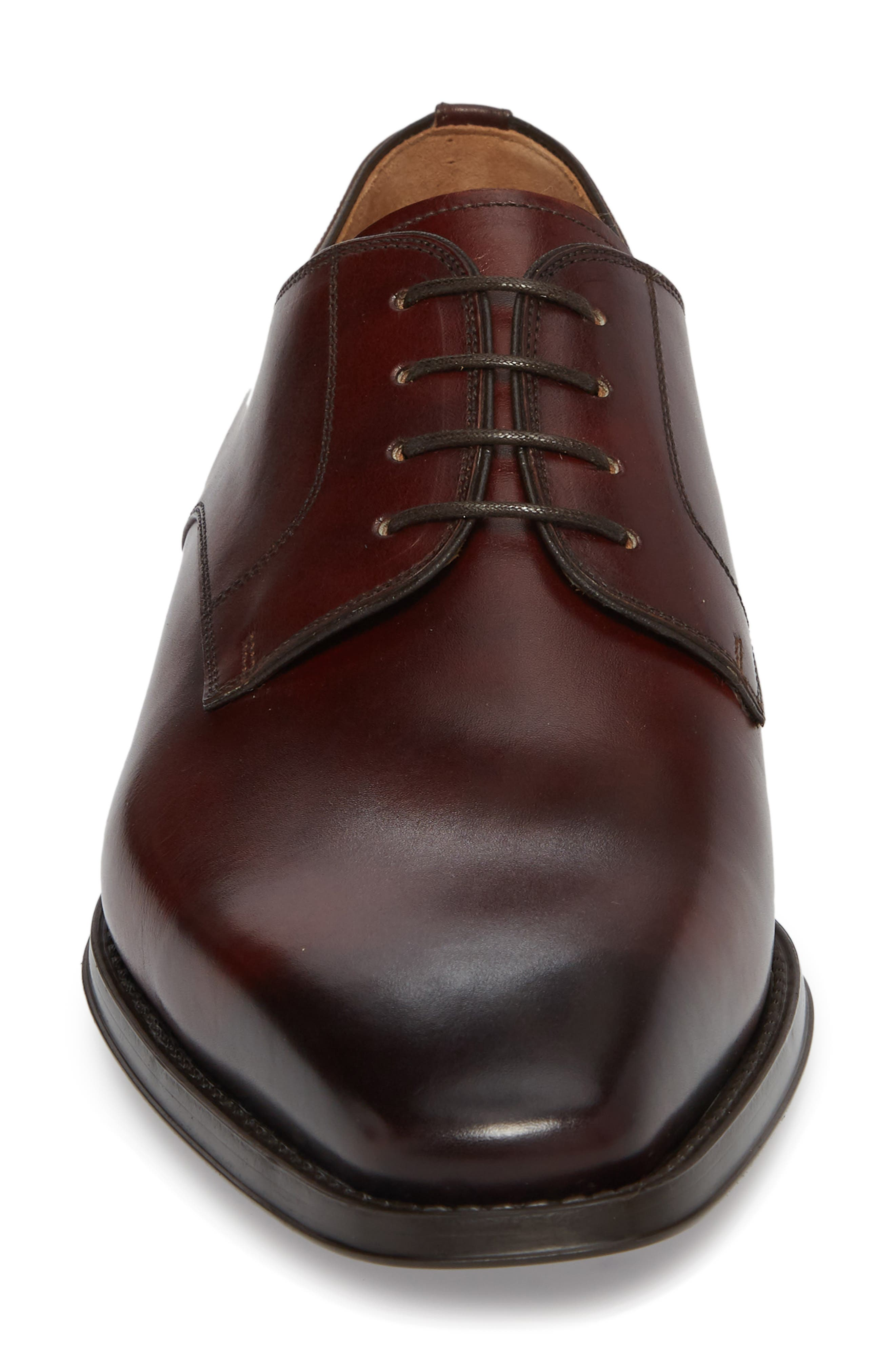 Colo II Plain Toe Derby,                             Alternate thumbnail 4, color,                             Mid Brown Leather