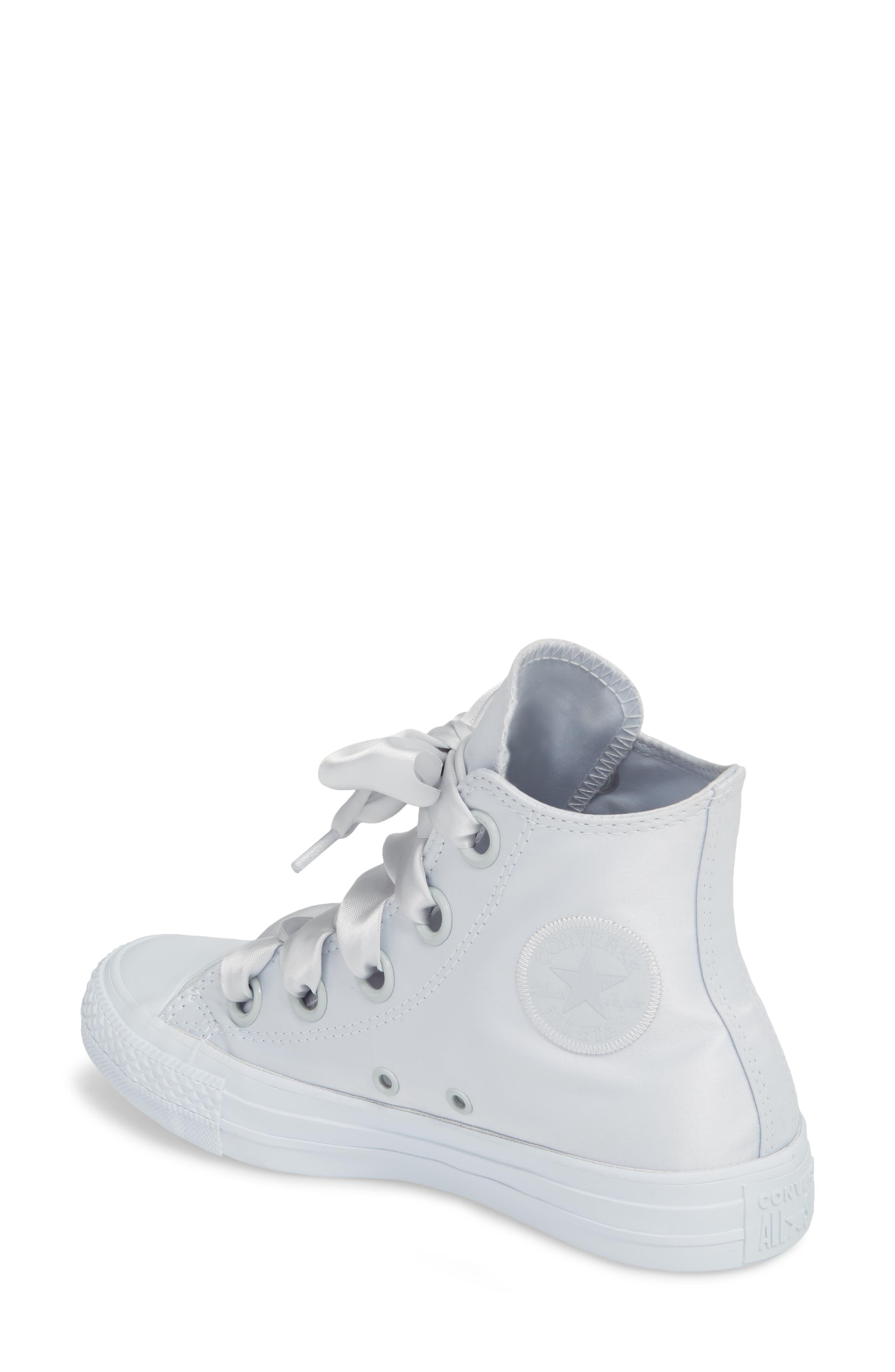 Chuck Taylor<sup>®</sup> All Star<sup>®</sup> Big Eyelet High Top Sneaker,                             Alternate thumbnail 2, color,                             Platinum