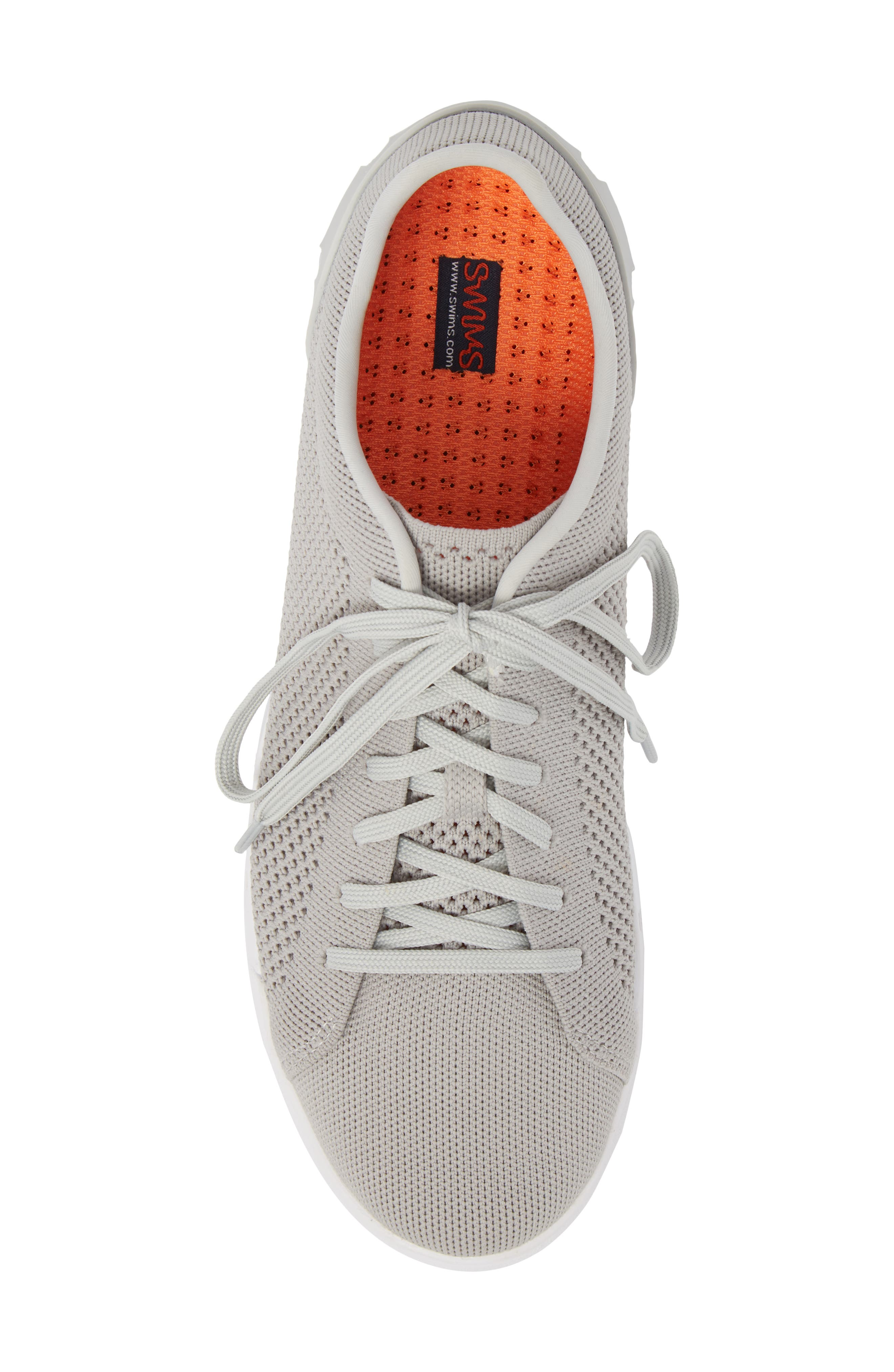 Breeze Tennis Washable Knit Sneaker,                             Alternate thumbnail 5, color,                             Light Grey/ White Fabric