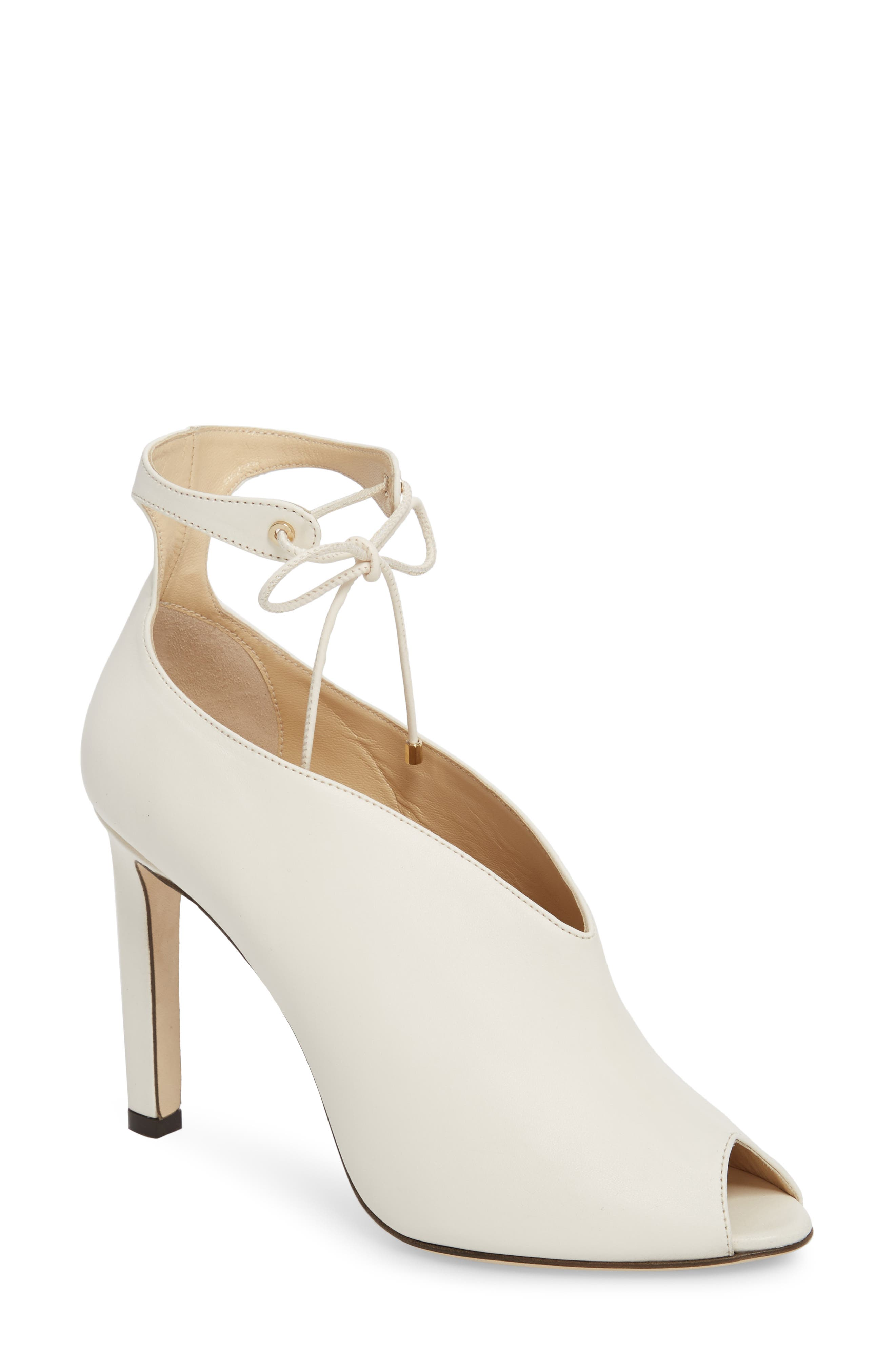 Sayra Ankle Tie Bootie,                         Main,                         color, Chalk