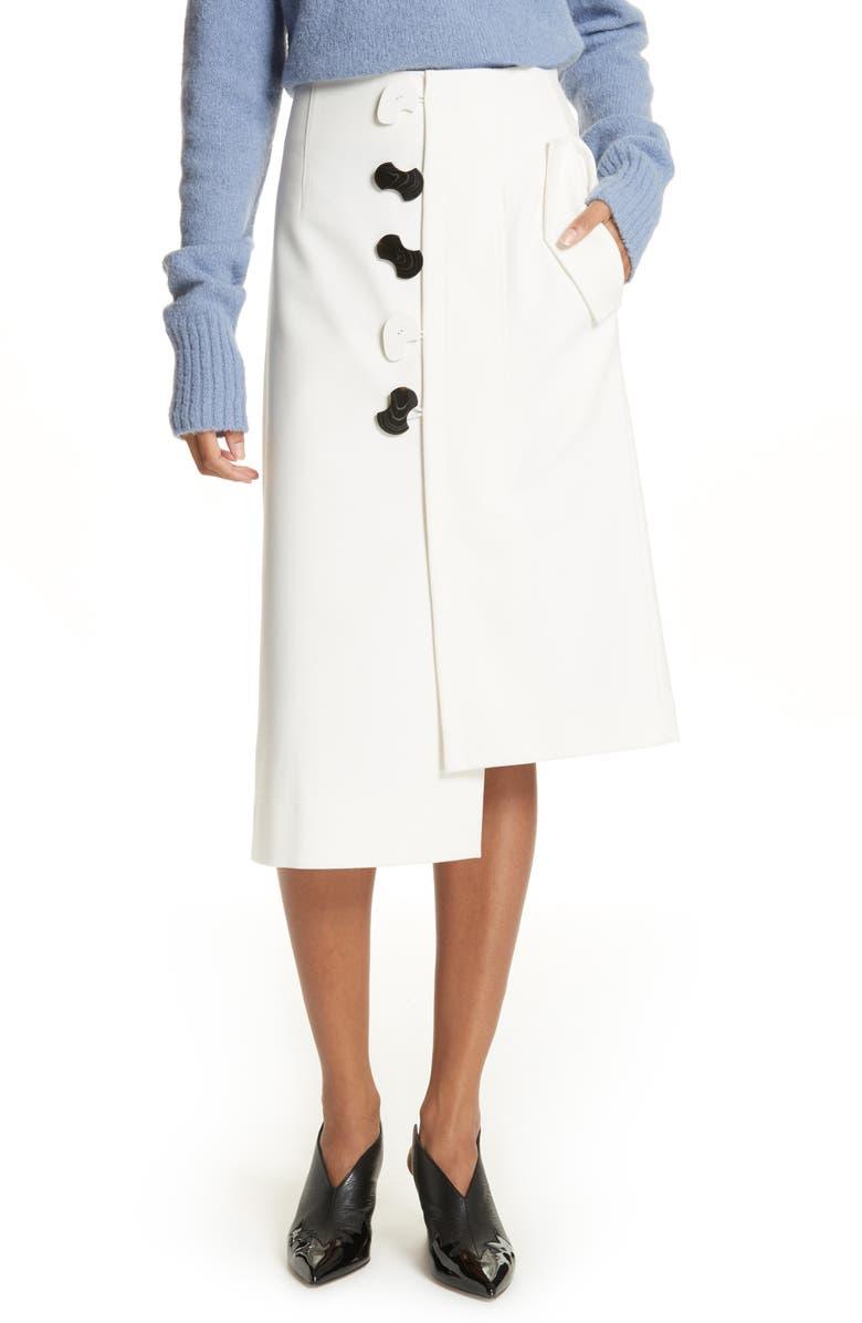 Mora Asymmetrical Faux Wrap Skirt