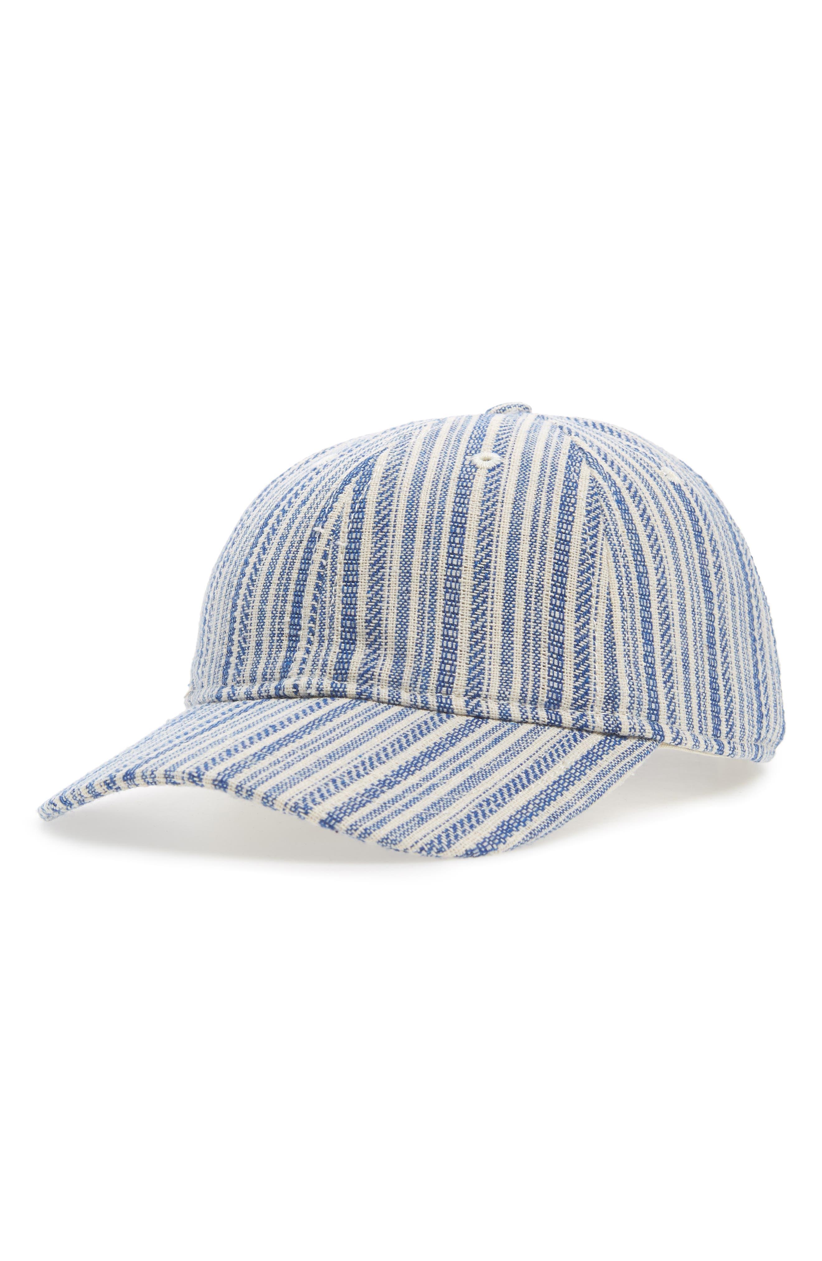 Textured Stripe Baseball Cap,                             Main thumbnail 1, color,                             Alpha Blue