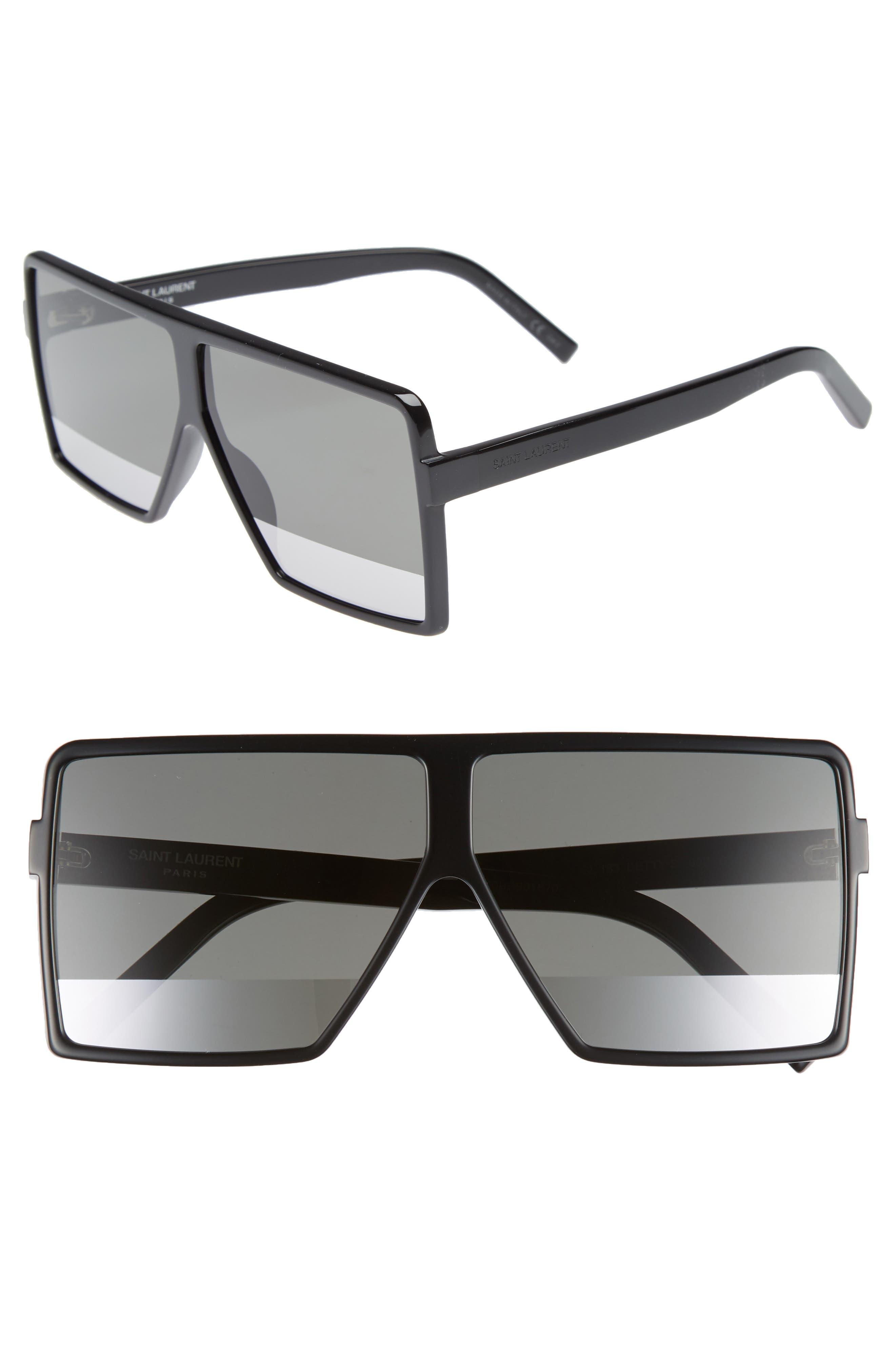 Betty 63mm Shield Sunglasses,                             Main thumbnail 1, color,                             Black