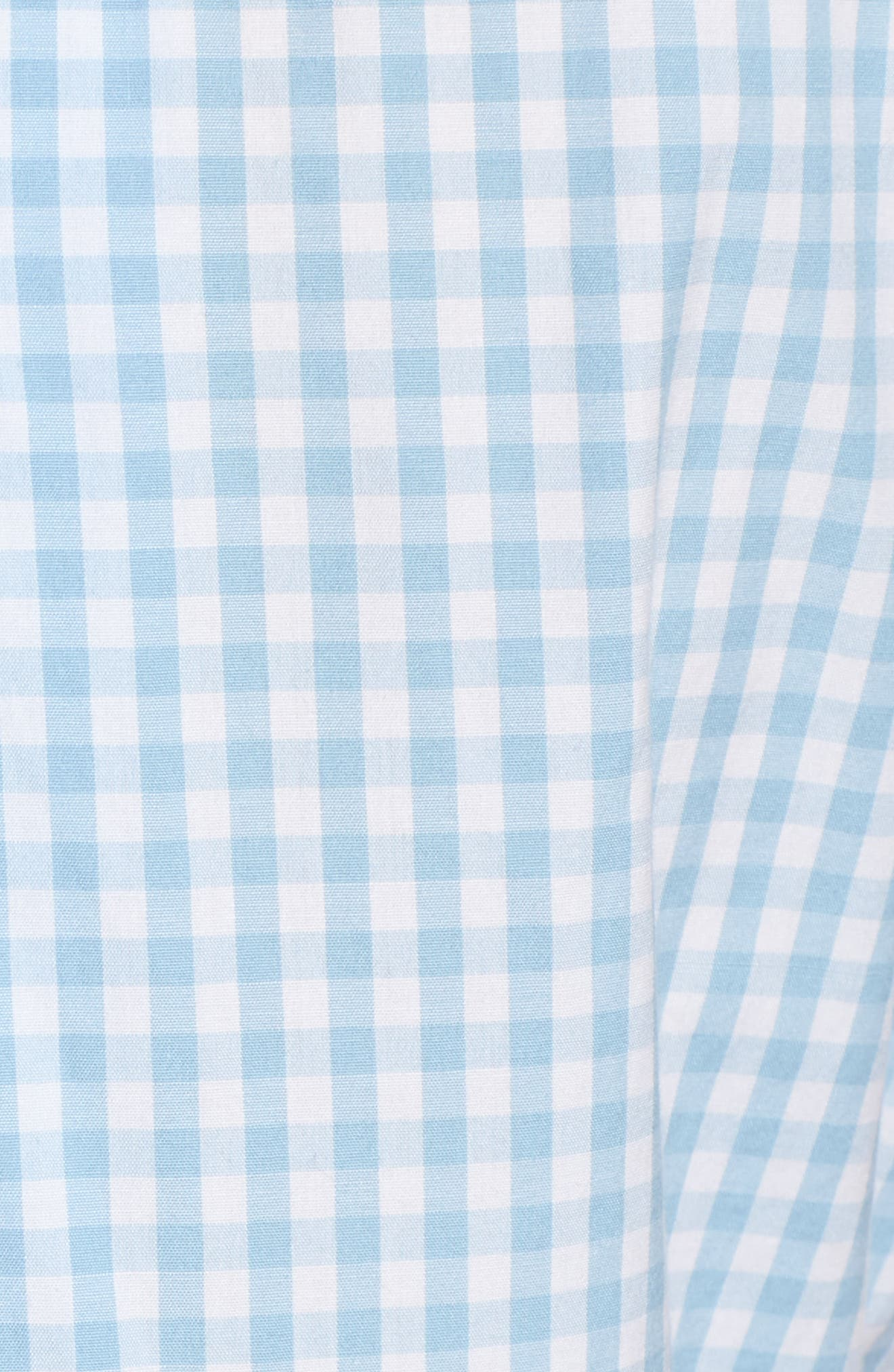 Gingham Prepster Popover Blouse,                             Alternate thumbnail 6, color,                             Jake Blue
