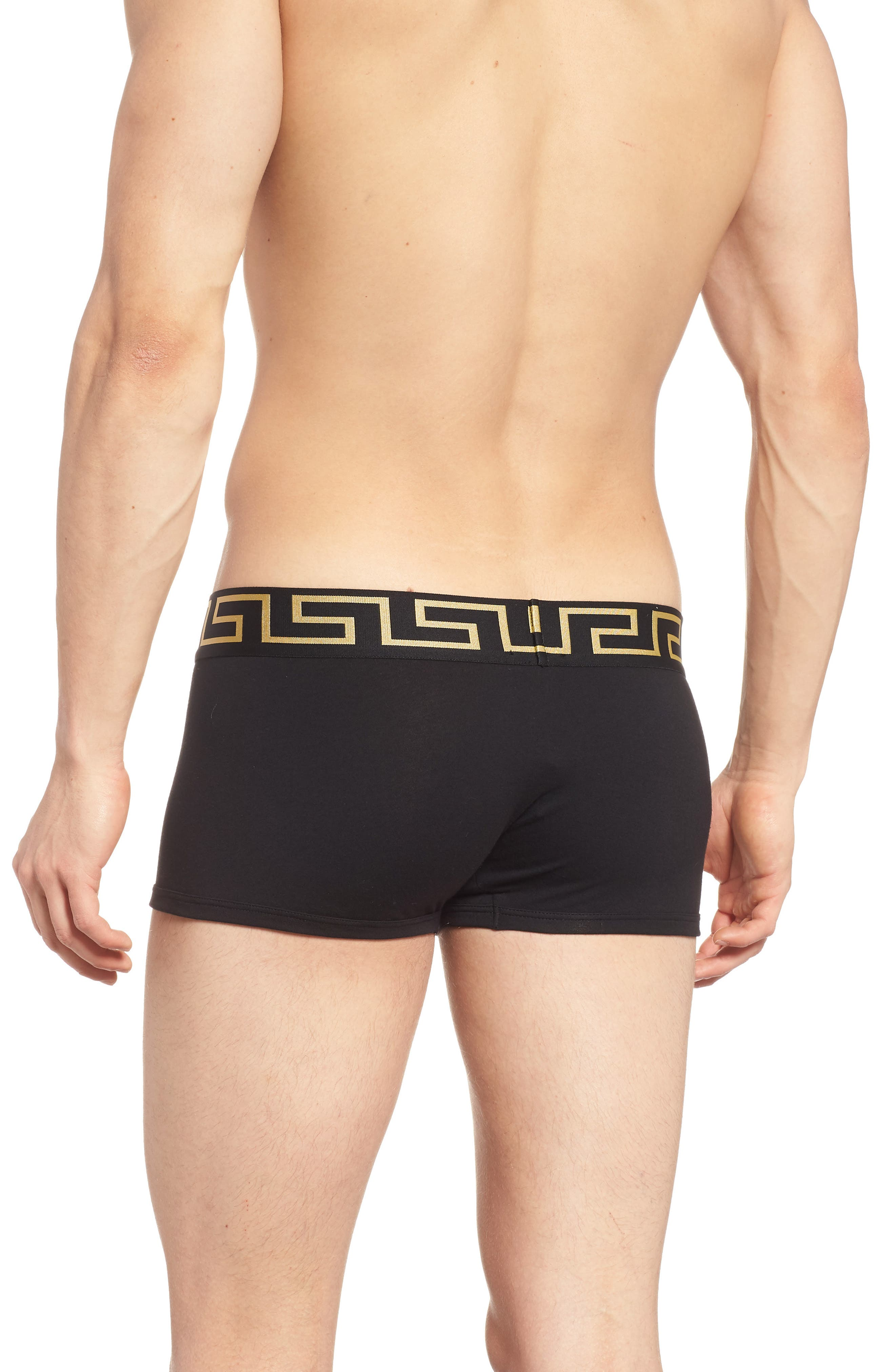 Versace Collection 2-Pack Low Rise Trunks,                             Alternate thumbnail 2, color,                             Black/ Gold