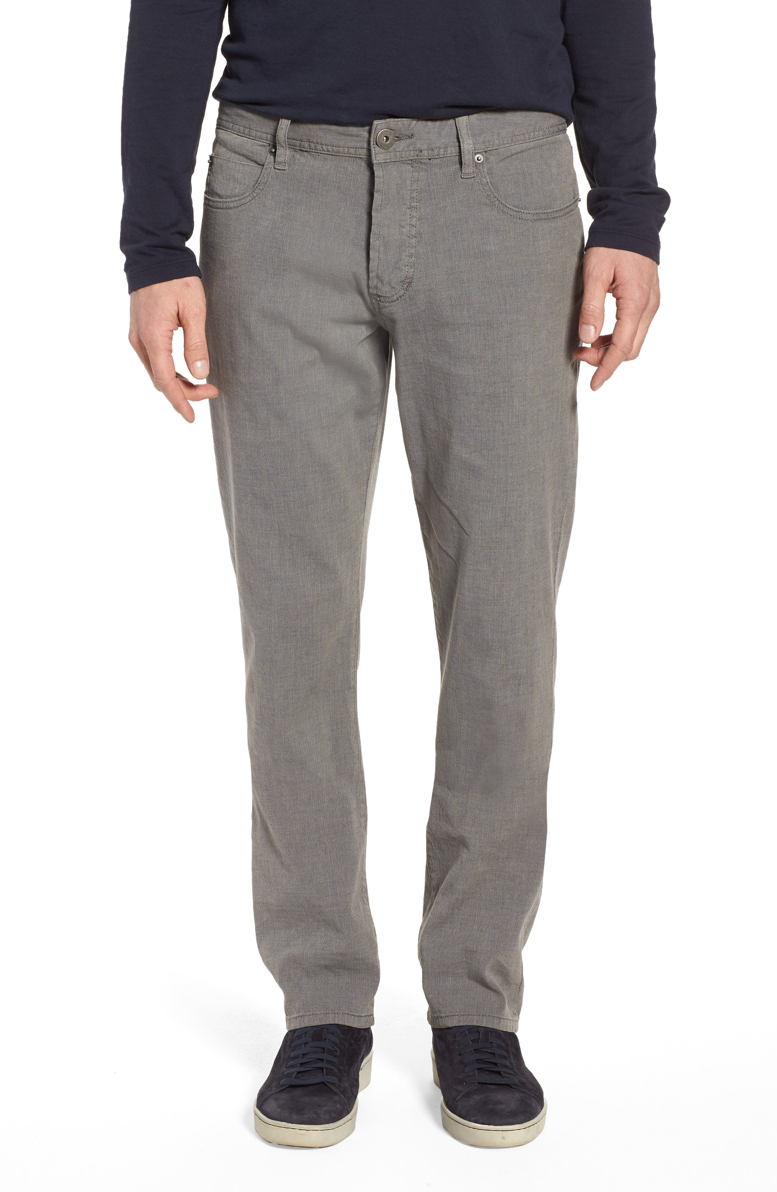 Straight Leg Five-Pocket Pants,                         Main,                         color, Grey