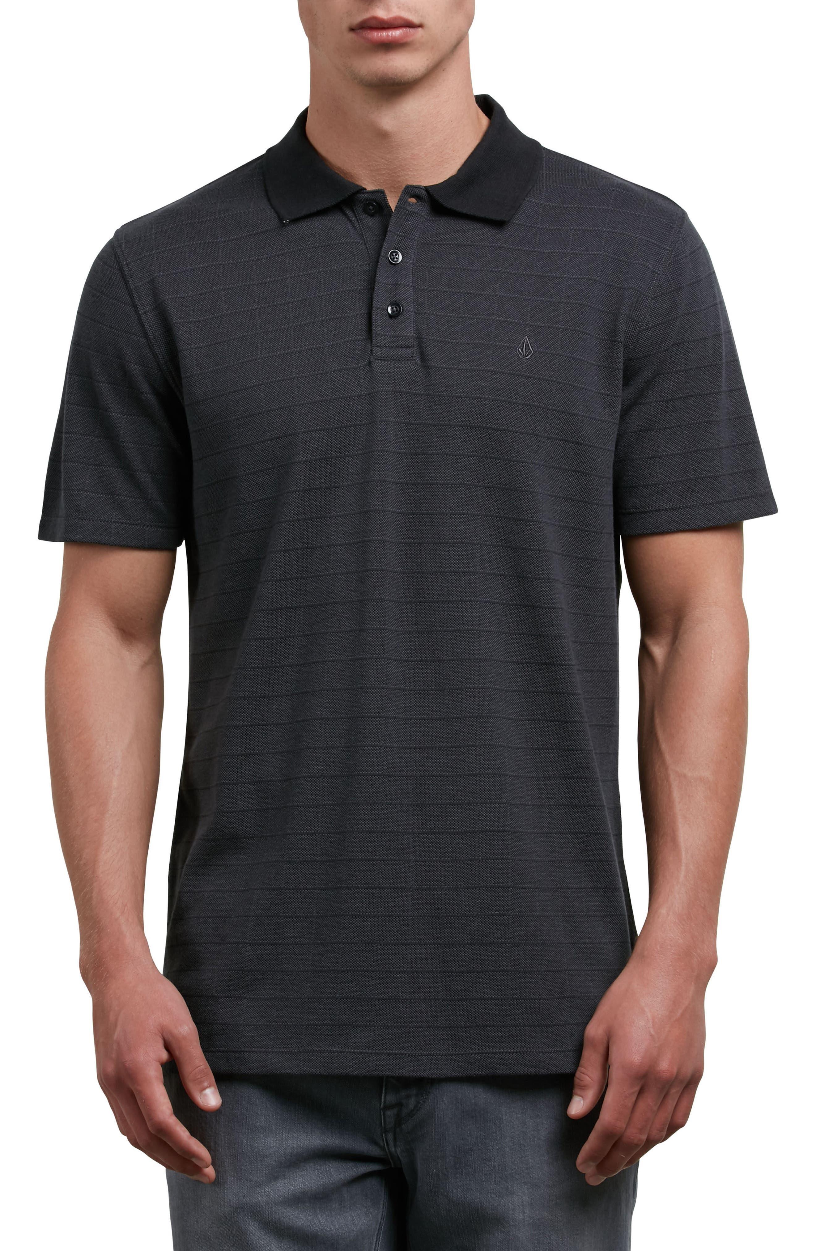 Wowzer Plaid Polo,                         Main,                         color, Black