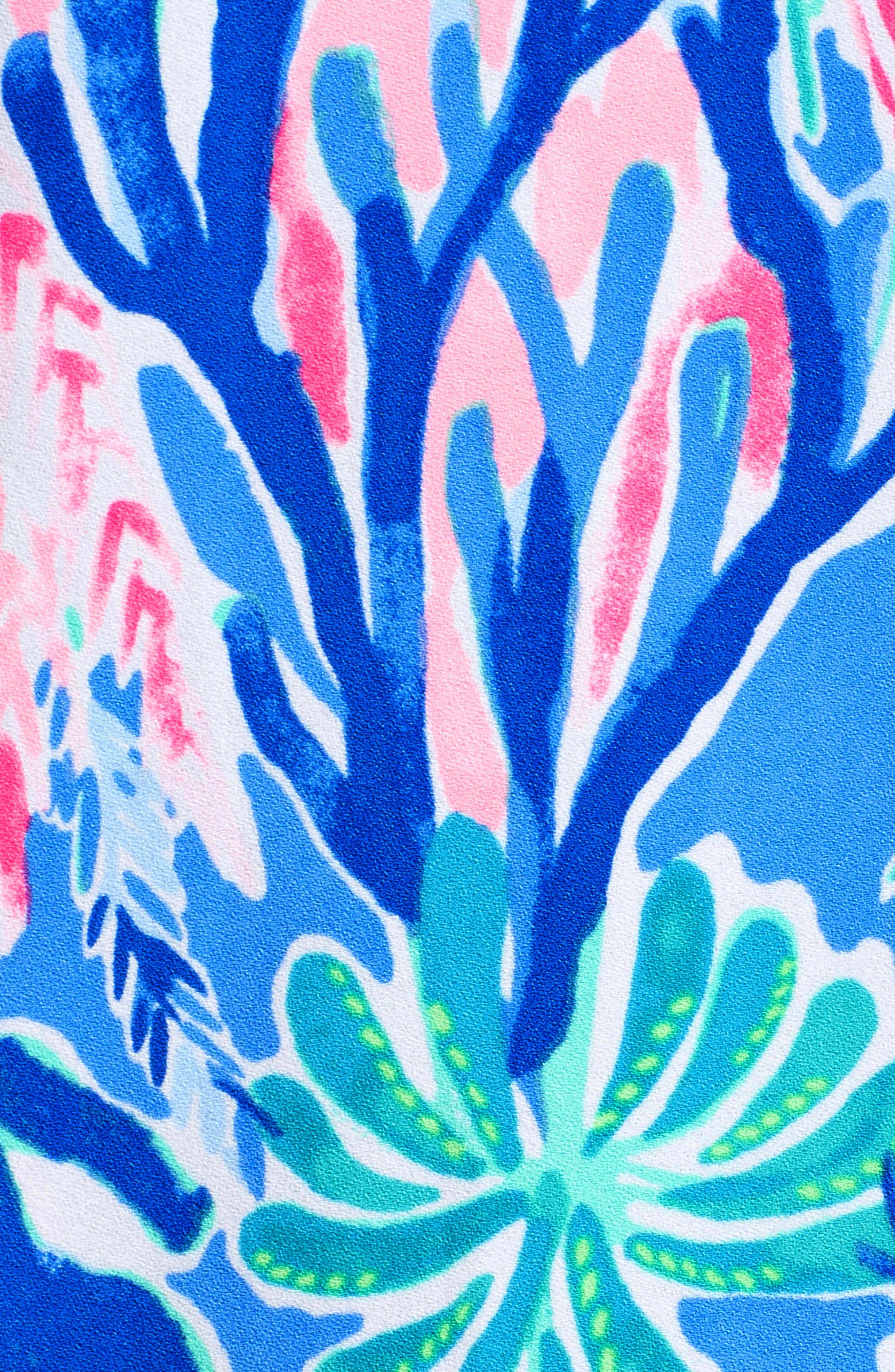 Pearl Romper Dress,                             Alternate thumbnail 5, color,                             Multi Jet Stream