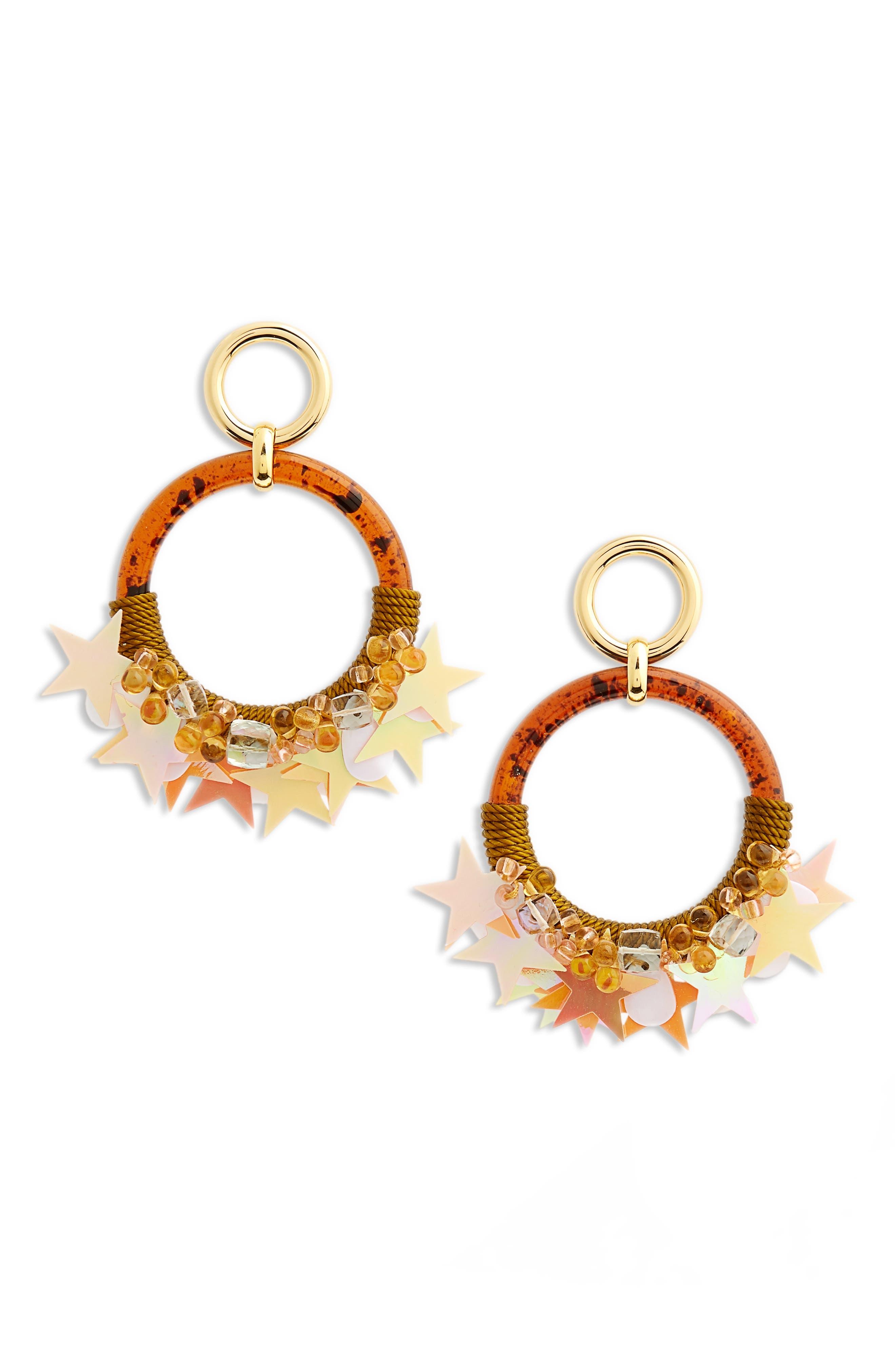 Starry Night Earrings,                         Main,                         color, Brown Multi