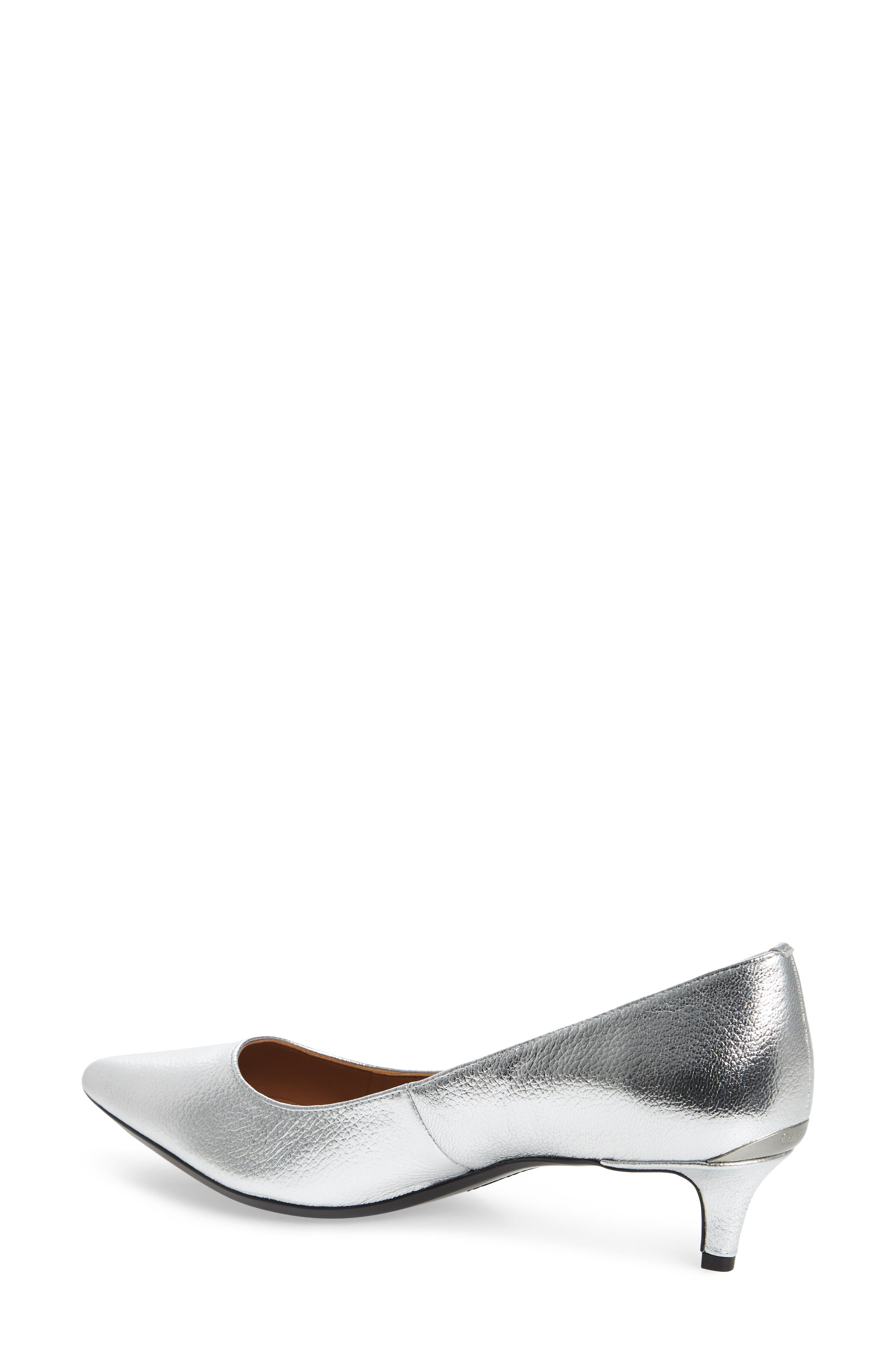 Gabrianna Pump,                             Alternate thumbnail 2, color,                             Silver Leather