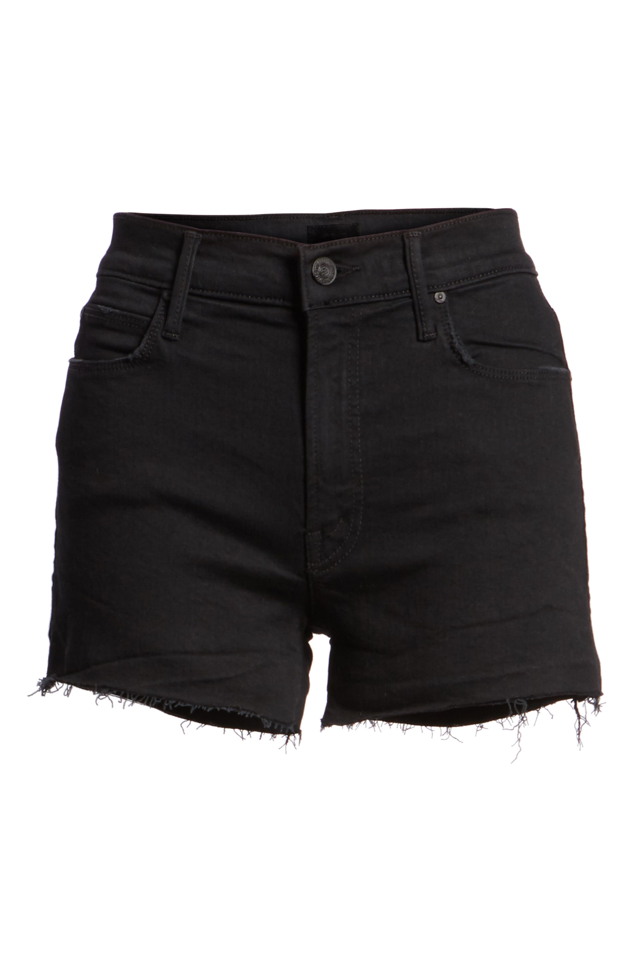 Alternate Image 6  - MOTHER The Charmer Fray Denim Shorts (Not Guilty)