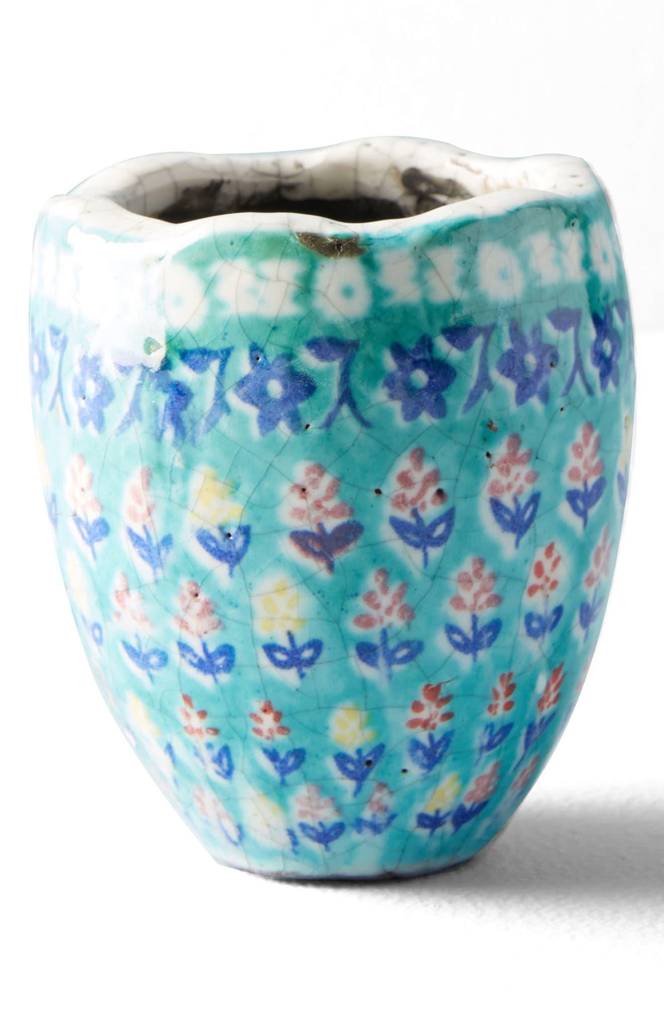 Bismark Mini Garden Pot,                             Main thumbnail 1, color,                             Green