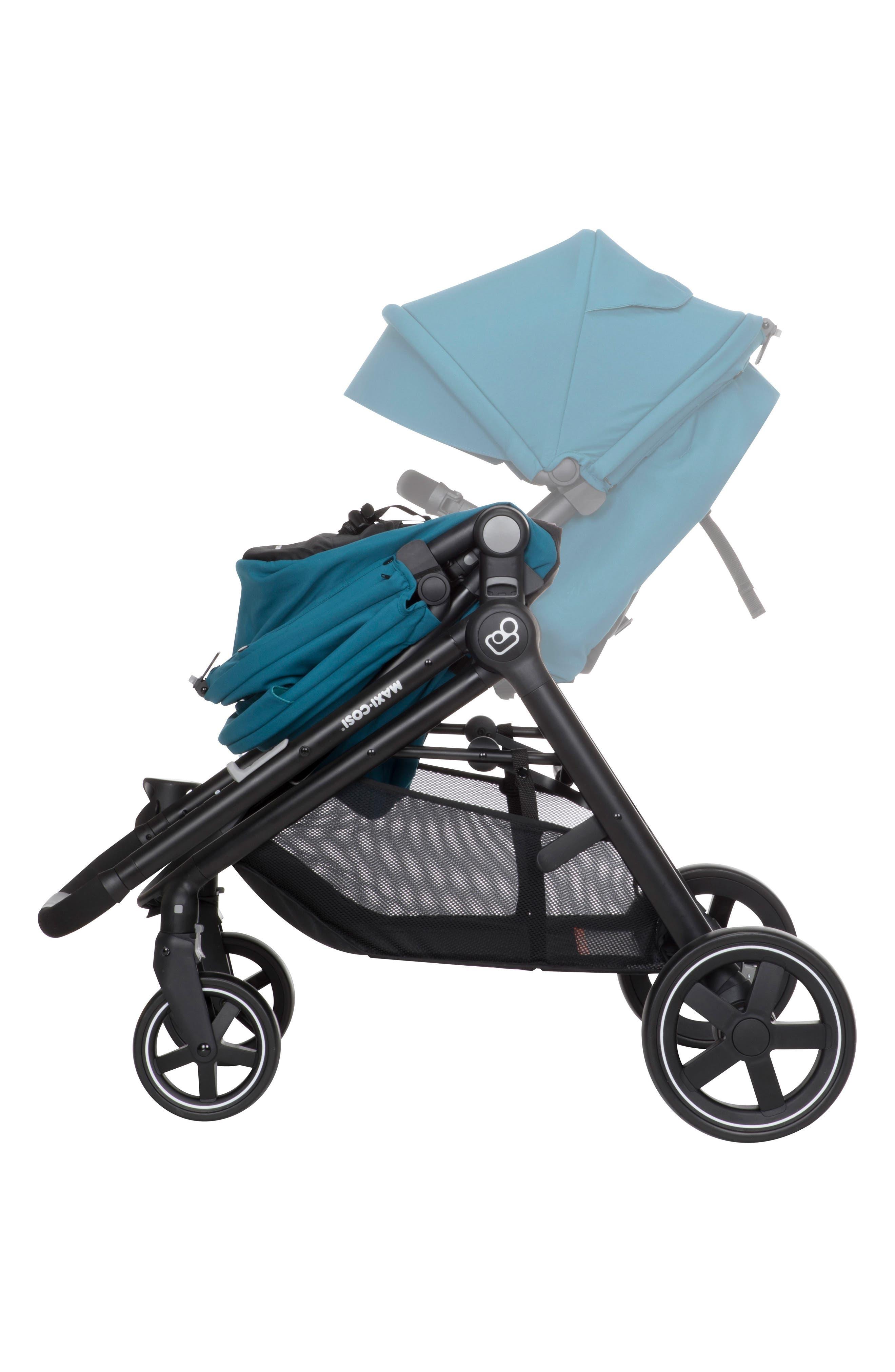 5-1 Mico 30 Infant Car Seat & Zelia Stroller Modular Travel System,                             Alternate thumbnail 6, color,                             Emerald Tide