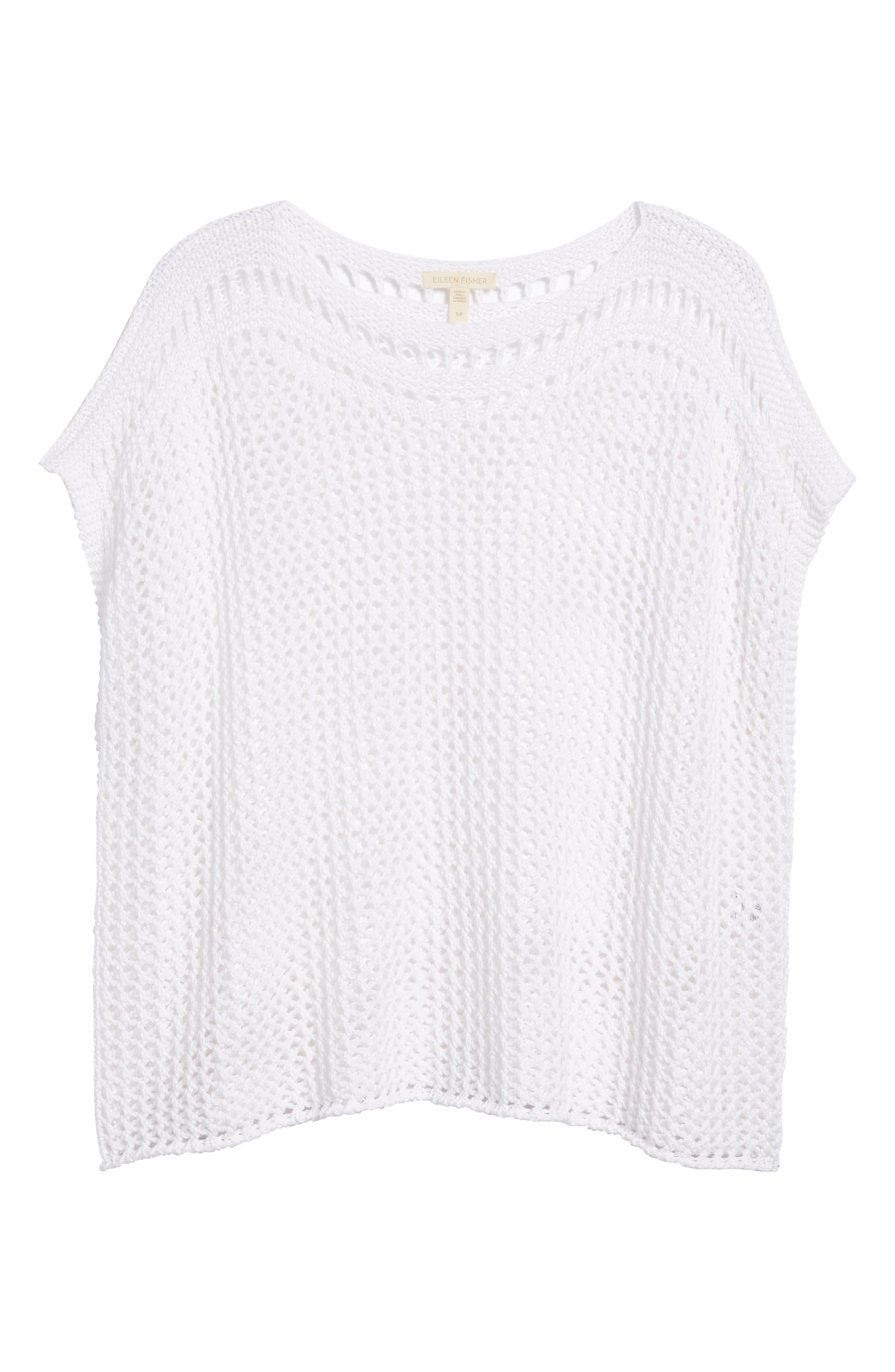 Organic Cotton Sweater,                             Alternate thumbnail 6, color,                             White