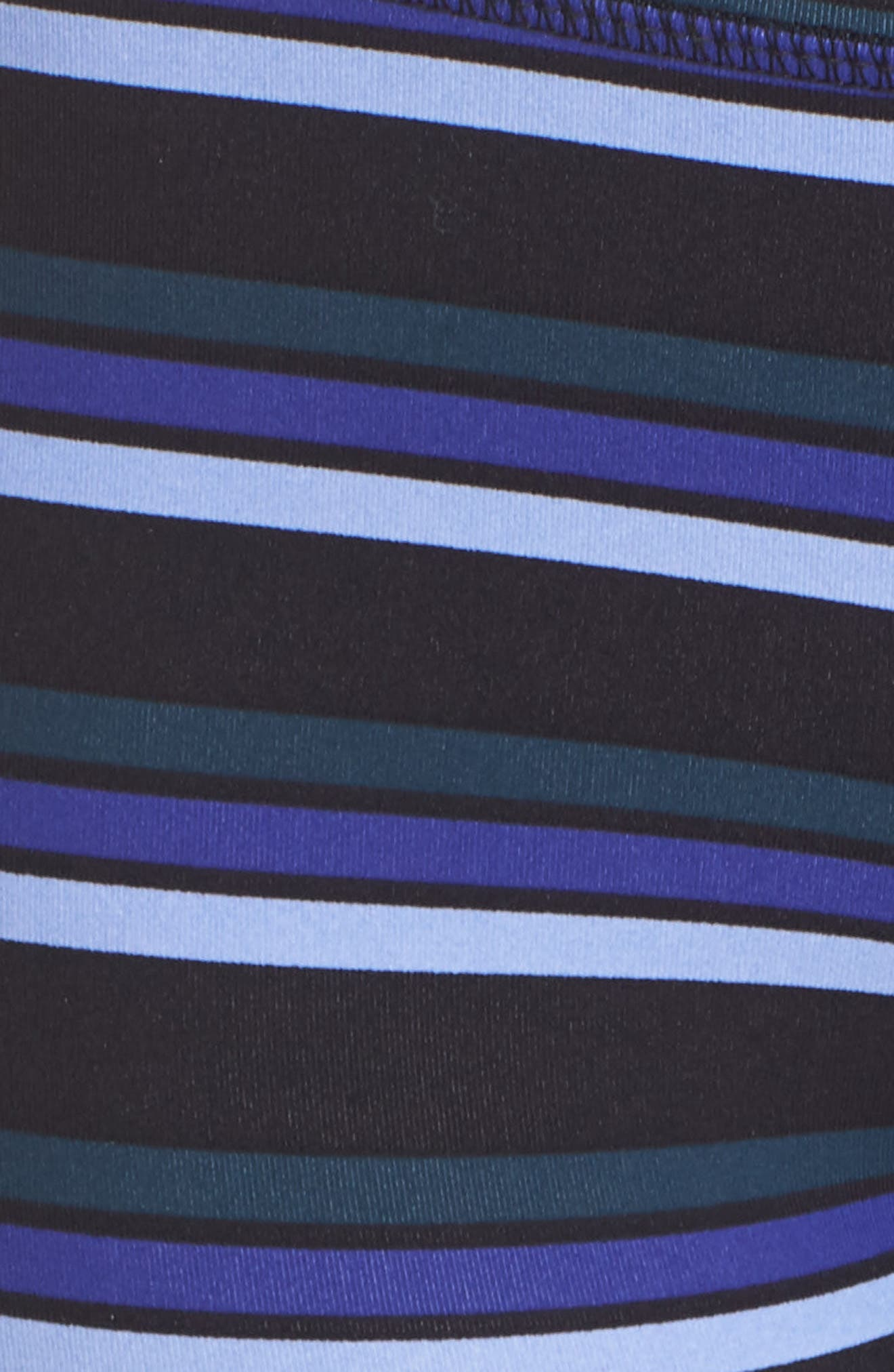 Stripe Infinity Leggings,                             Alternate thumbnail 6, color,                             Black Combo
