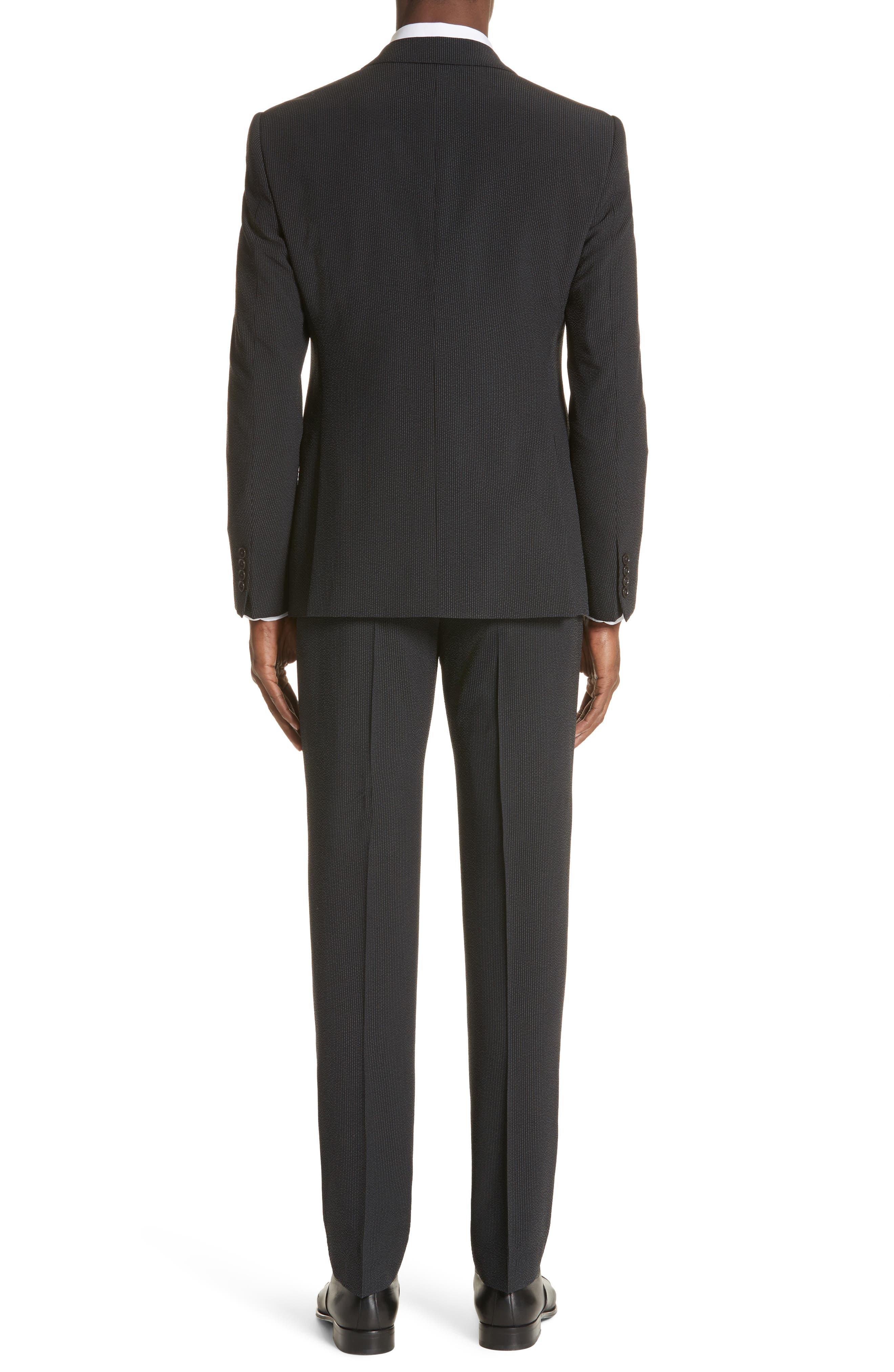 M Line Trim Fit Stretch Seersucker Wool Blend Suit,                             Alternate thumbnail 2, color,                             Grey