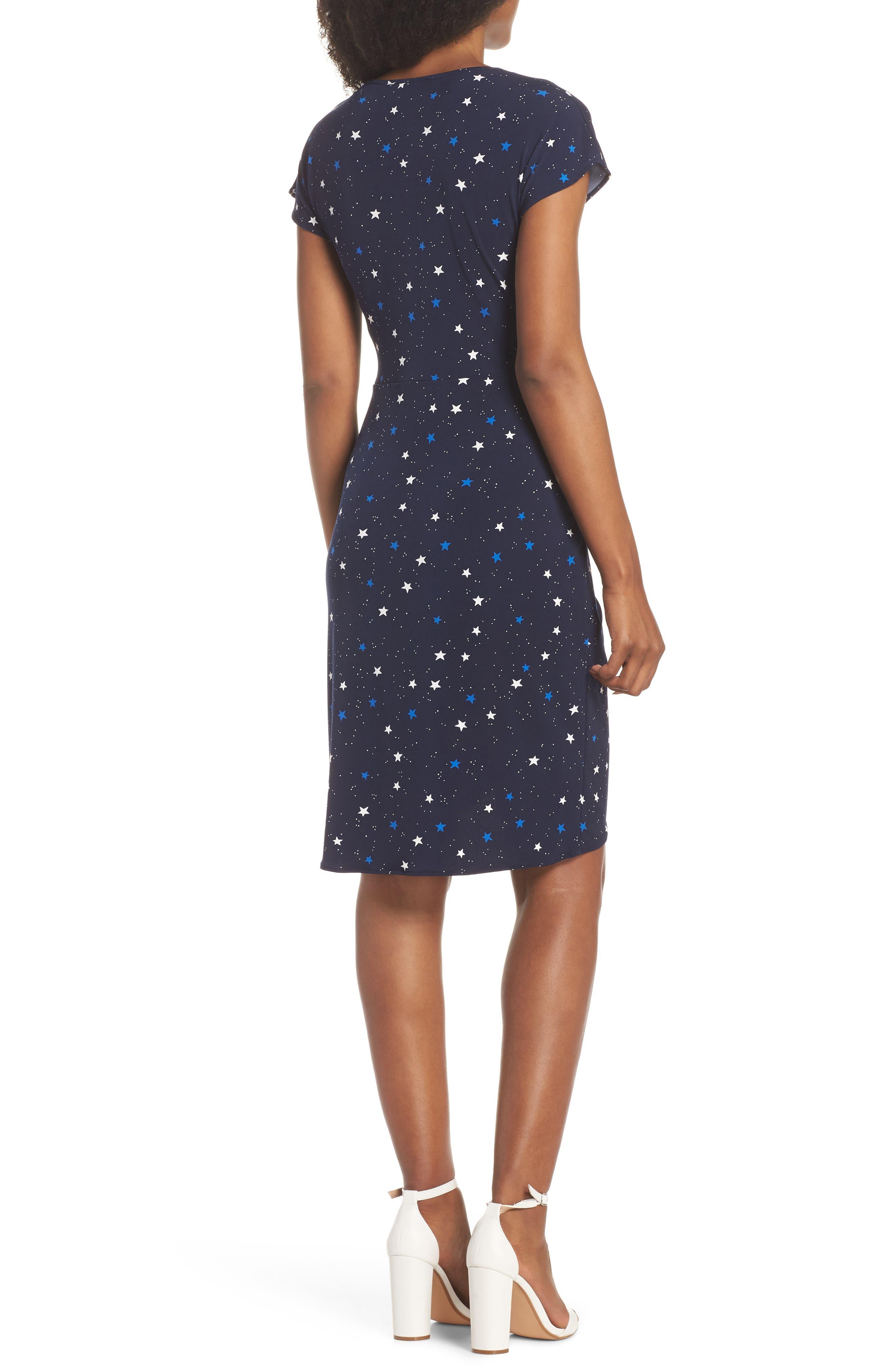 Mini Twist Dress,                             Alternate thumbnail 2, color,                             Galaxy