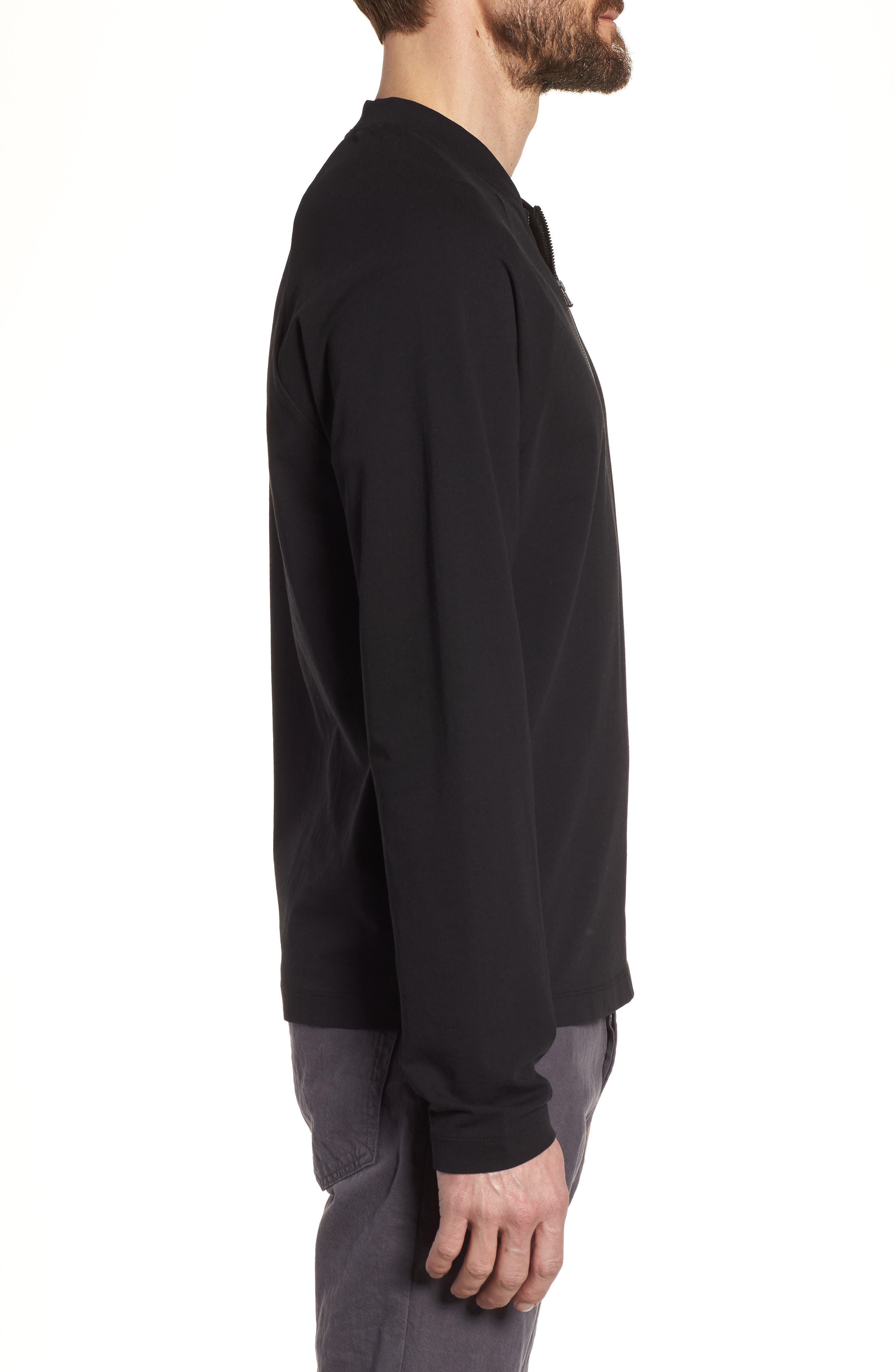 Alternate Image 3  - James Perse Regular Fit Half Zip Baseball Pullover