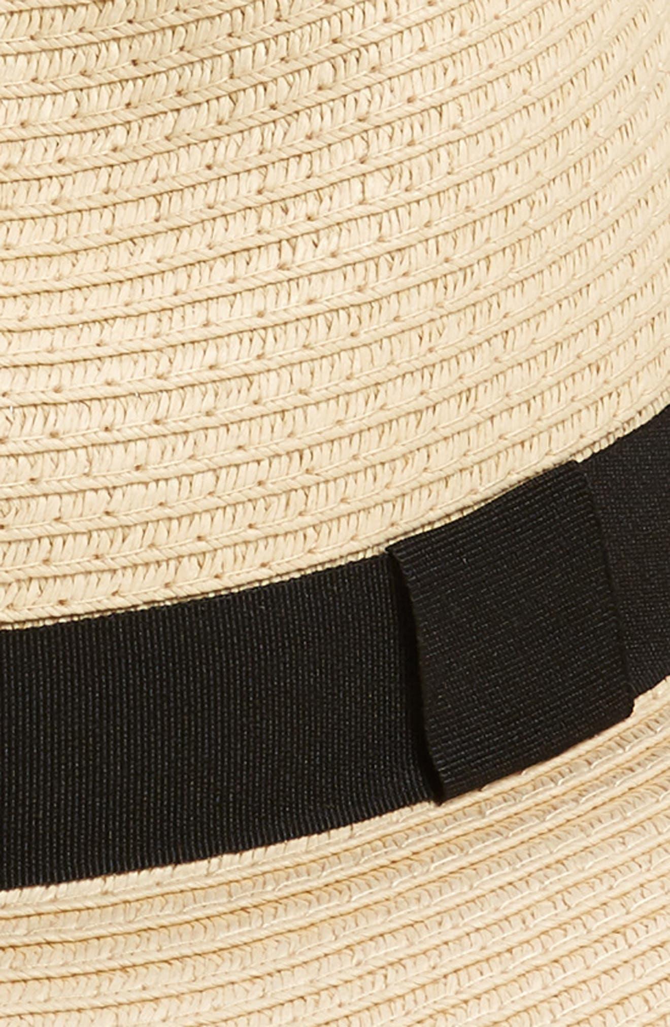 Straw Panama Hat,                             Alternate thumbnail 2, color,                             Natural