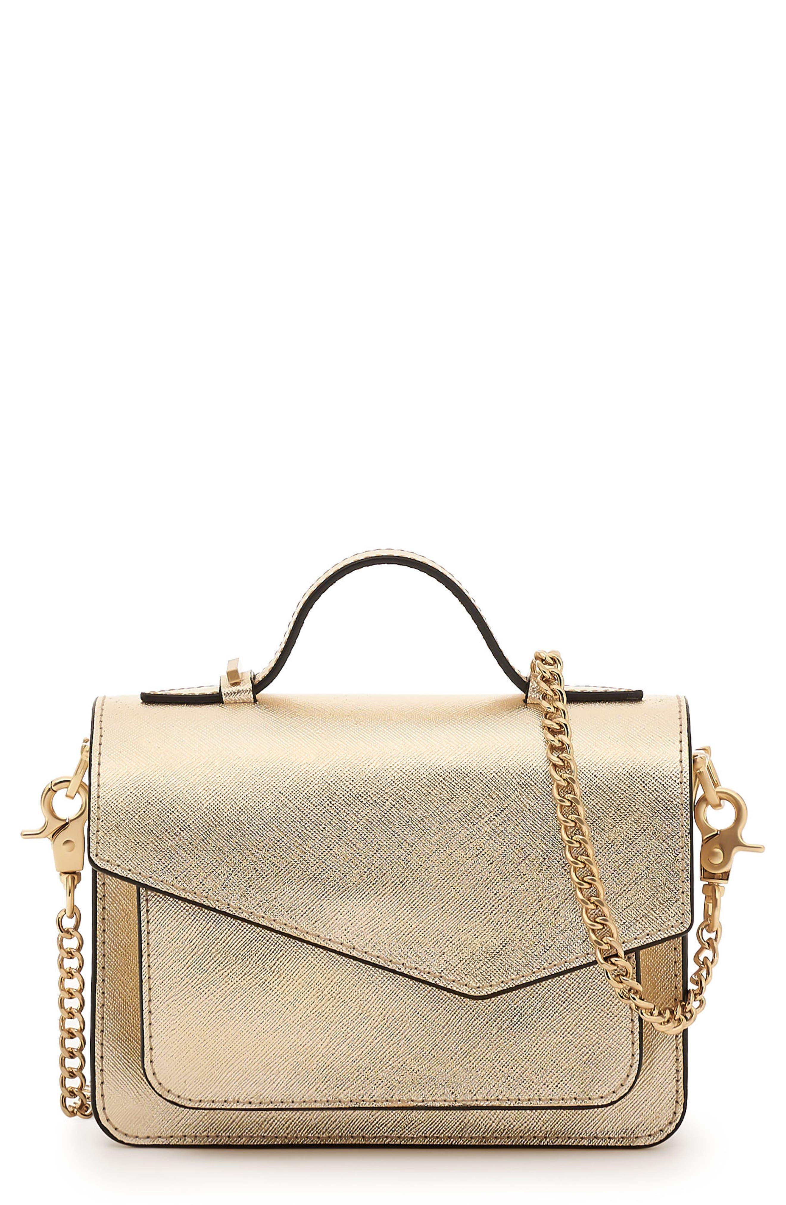 Mini Cobble Hill Calfskin Leather Crossbody Bag,                             Main thumbnail 1, color,                             Gold