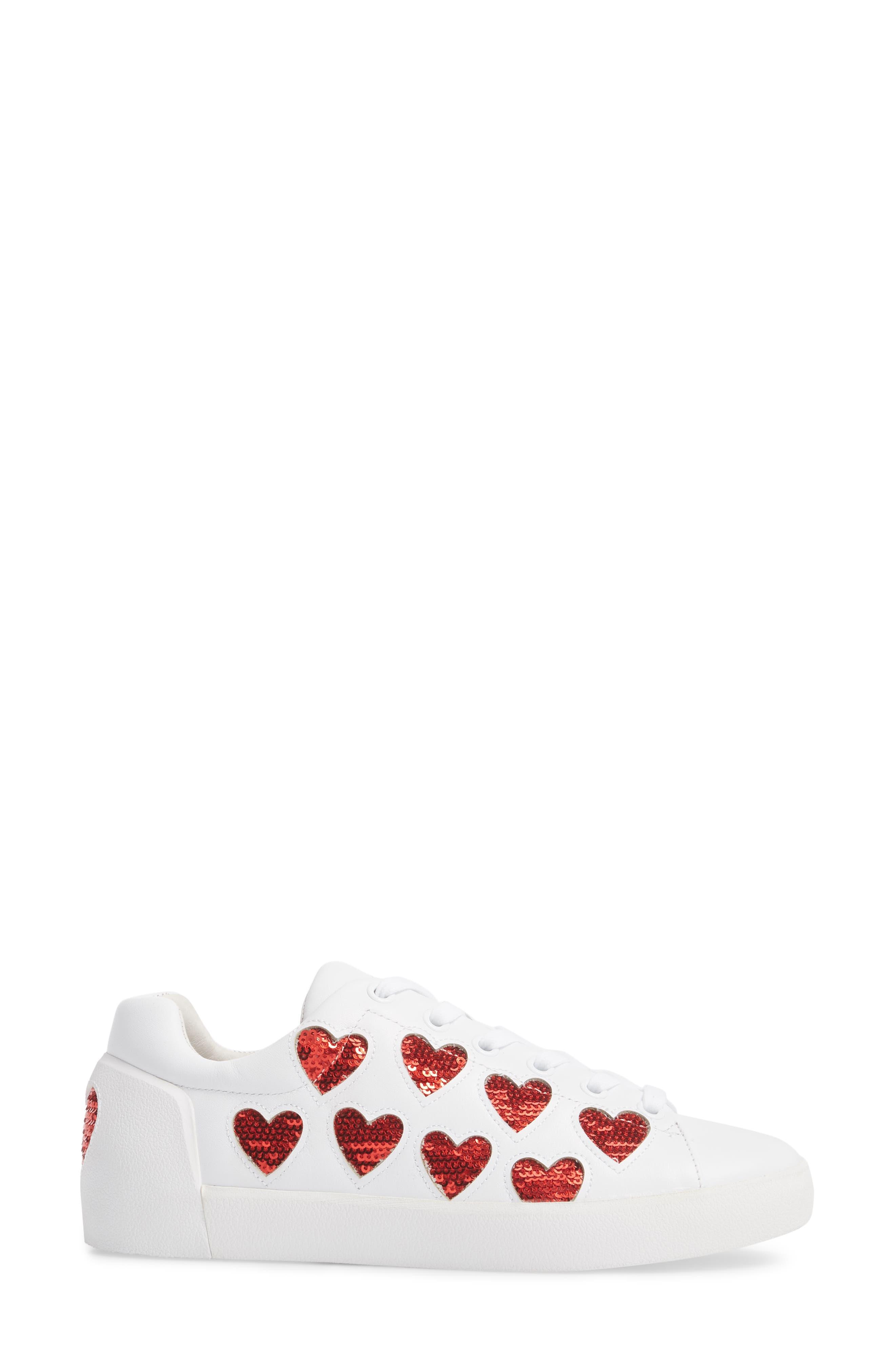Nikita Sneaker,                             Alternate thumbnail 3, color,                             White/ Red