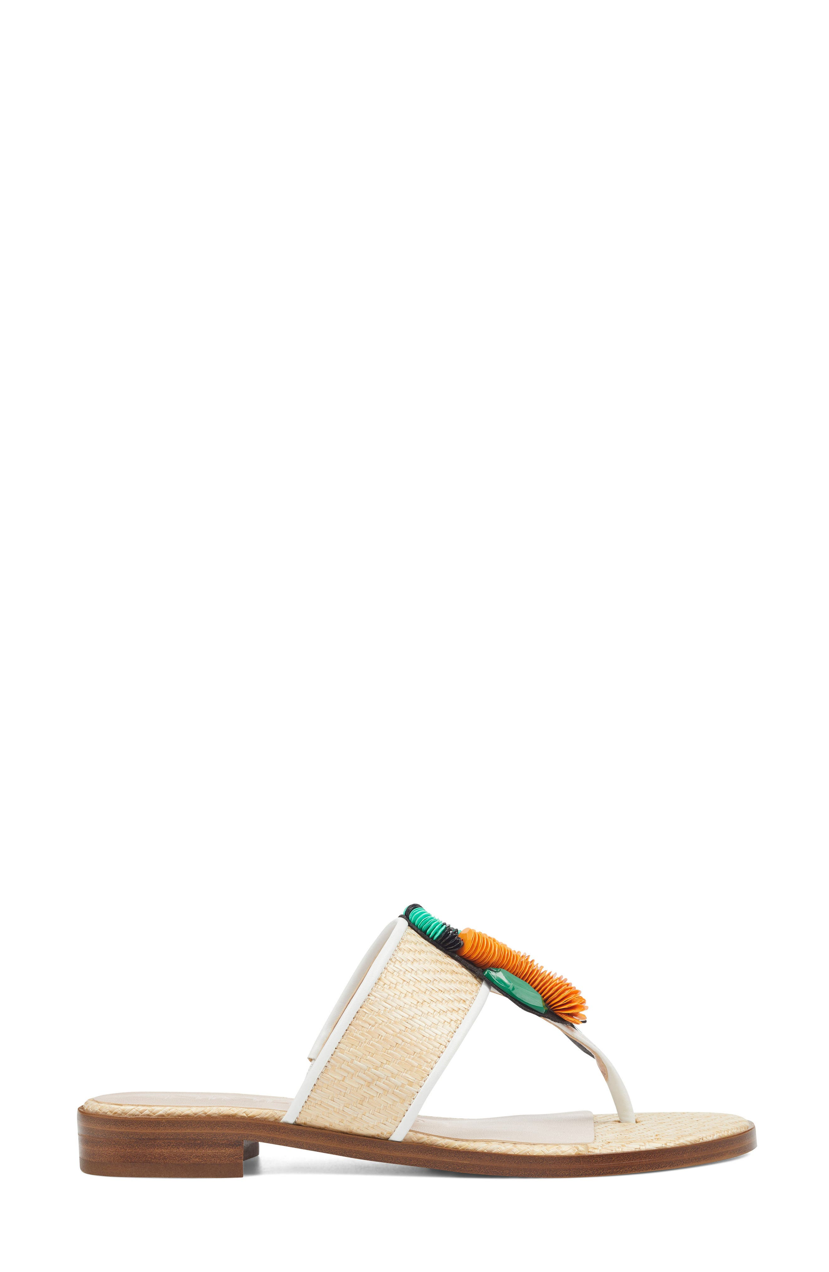 Roseriver Sandal,                             Alternate thumbnail 3, color,                             Natural/ White Fabric