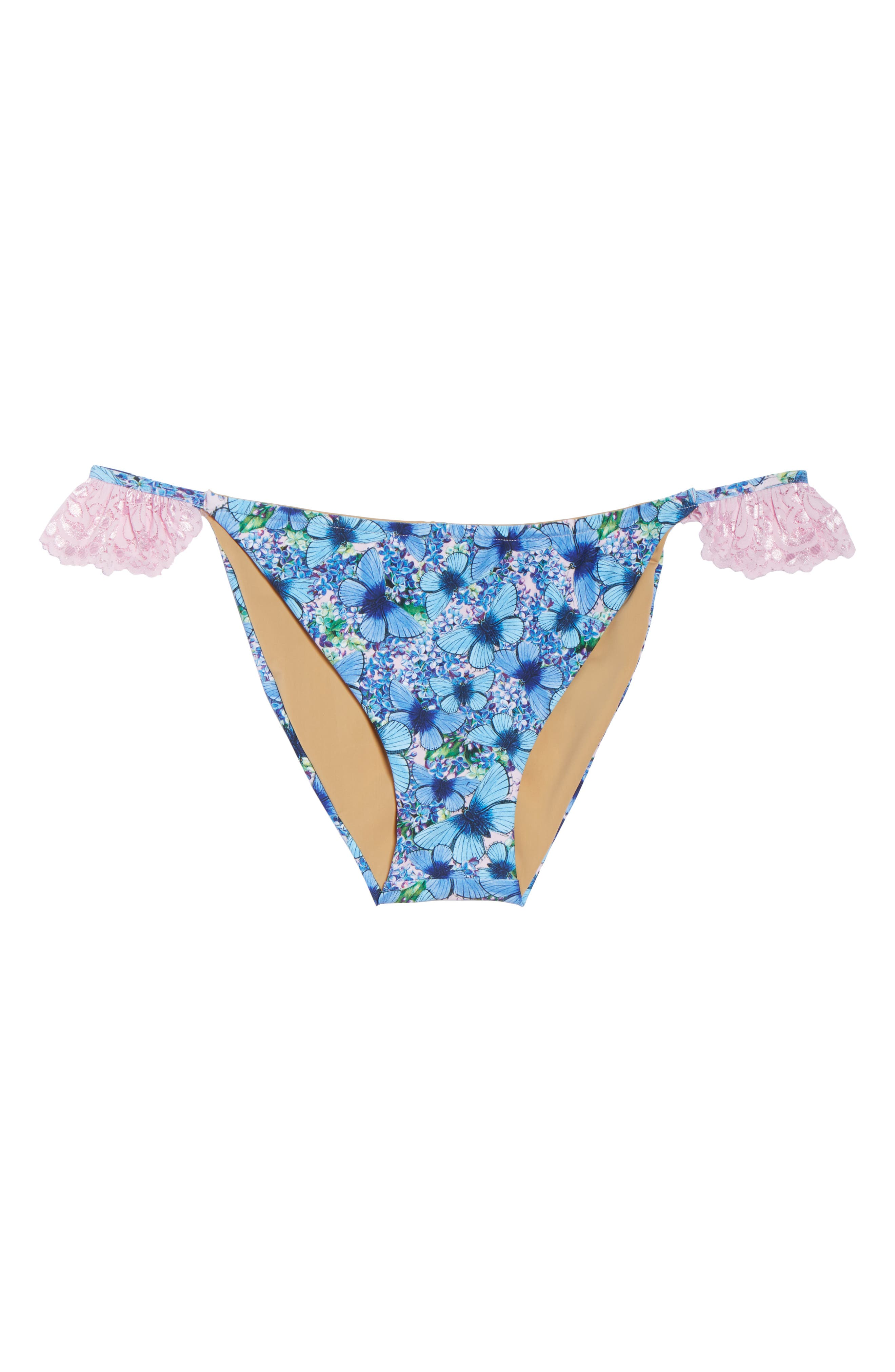 Ruffle Bikini Bottoms,                             Alternate thumbnail 6, color,                             Butterfly