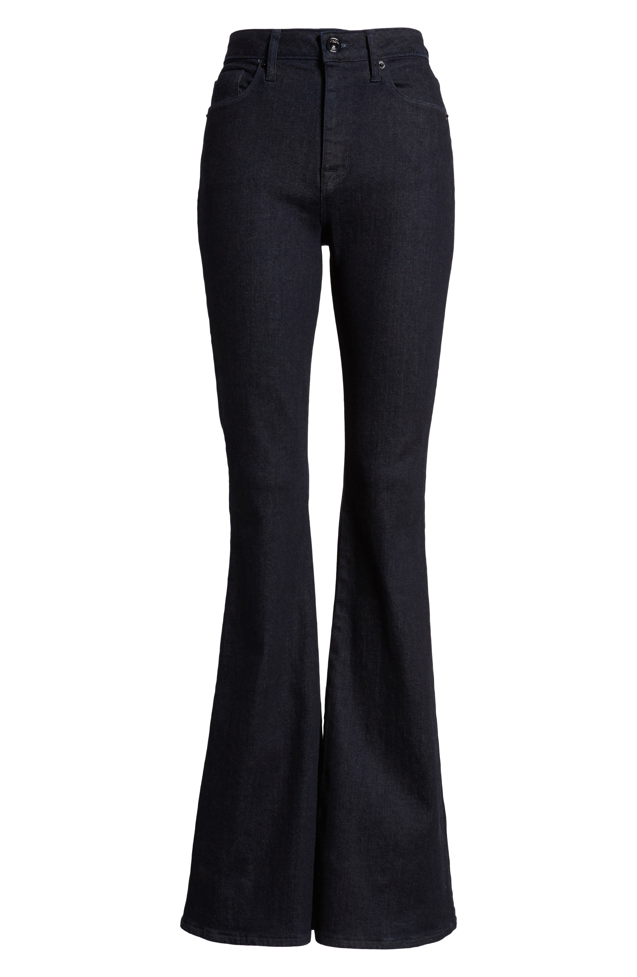 Holly High Waist Flare Jeans,                             Alternate thumbnail 7, color,                             Infuse