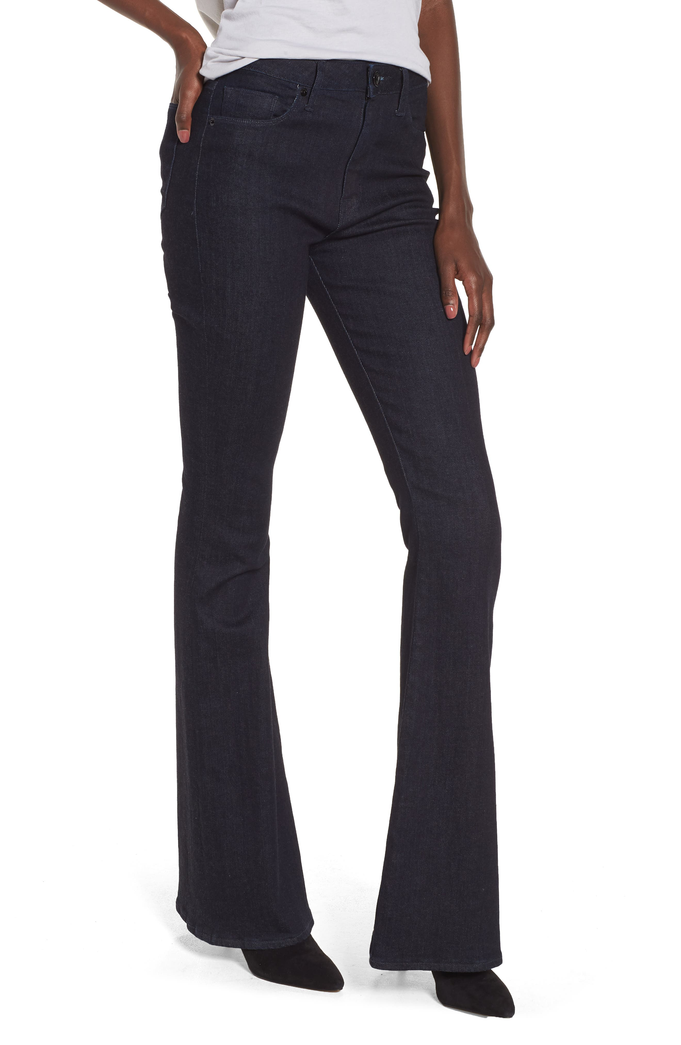Holly High Waist Flare Jeans,                             Main thumbnail 1, color,                             Infuse