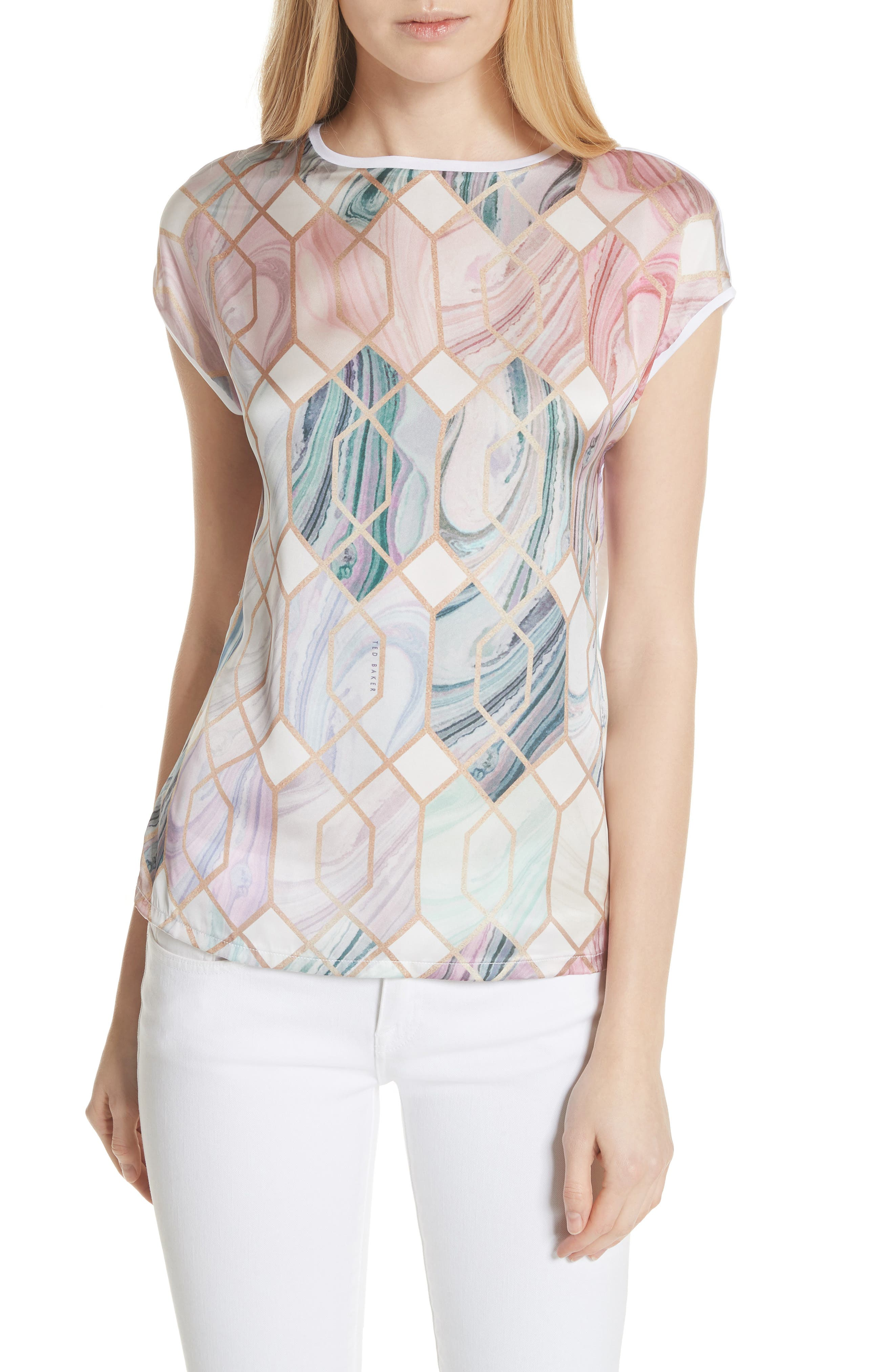 Relli Sea of Clouds Tee,                             Main thumbnail 1, color,                             White