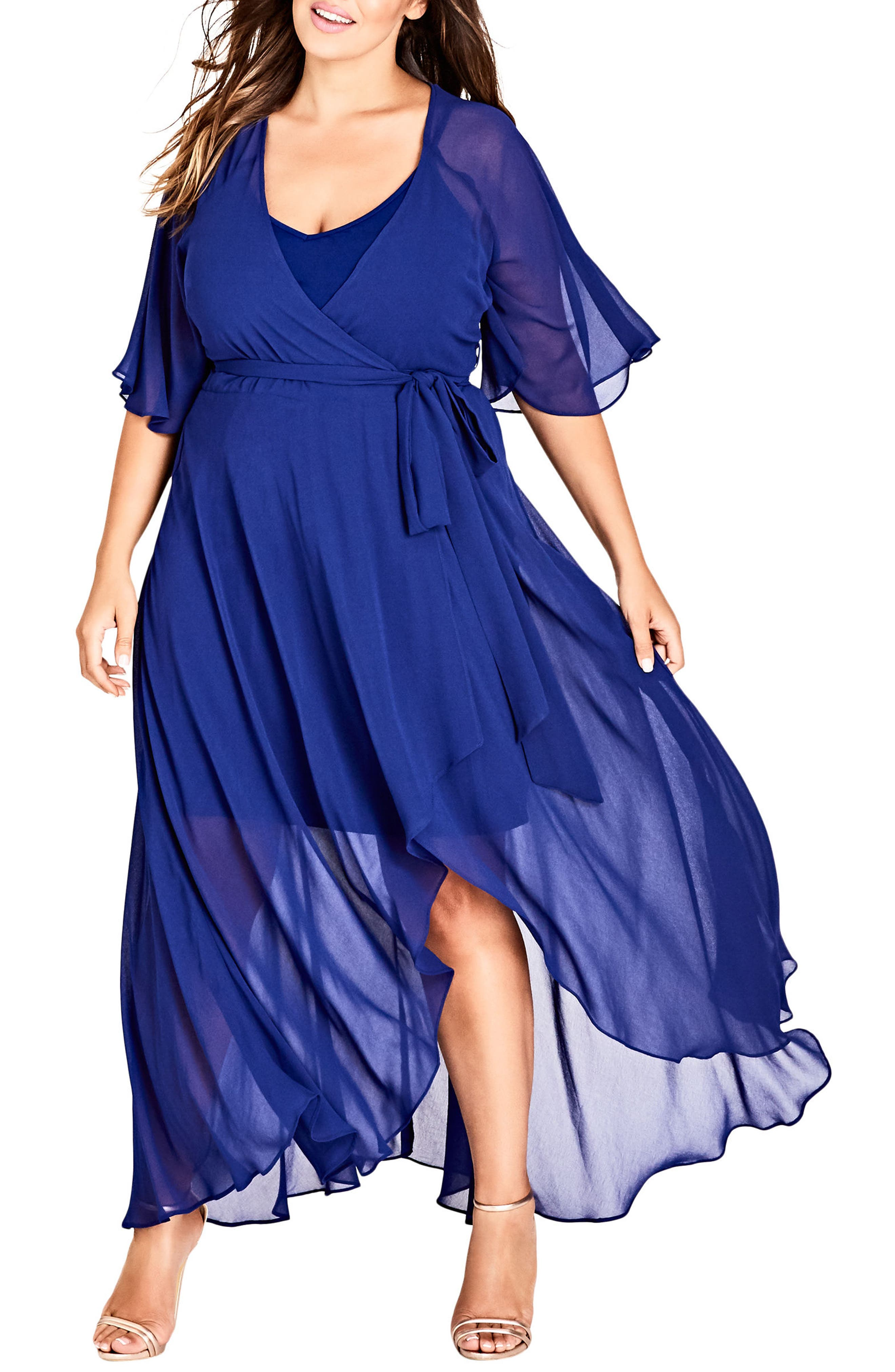 Enthrall Me High/Low Dress,                             Main thumbnail 1, color,                             Lapis