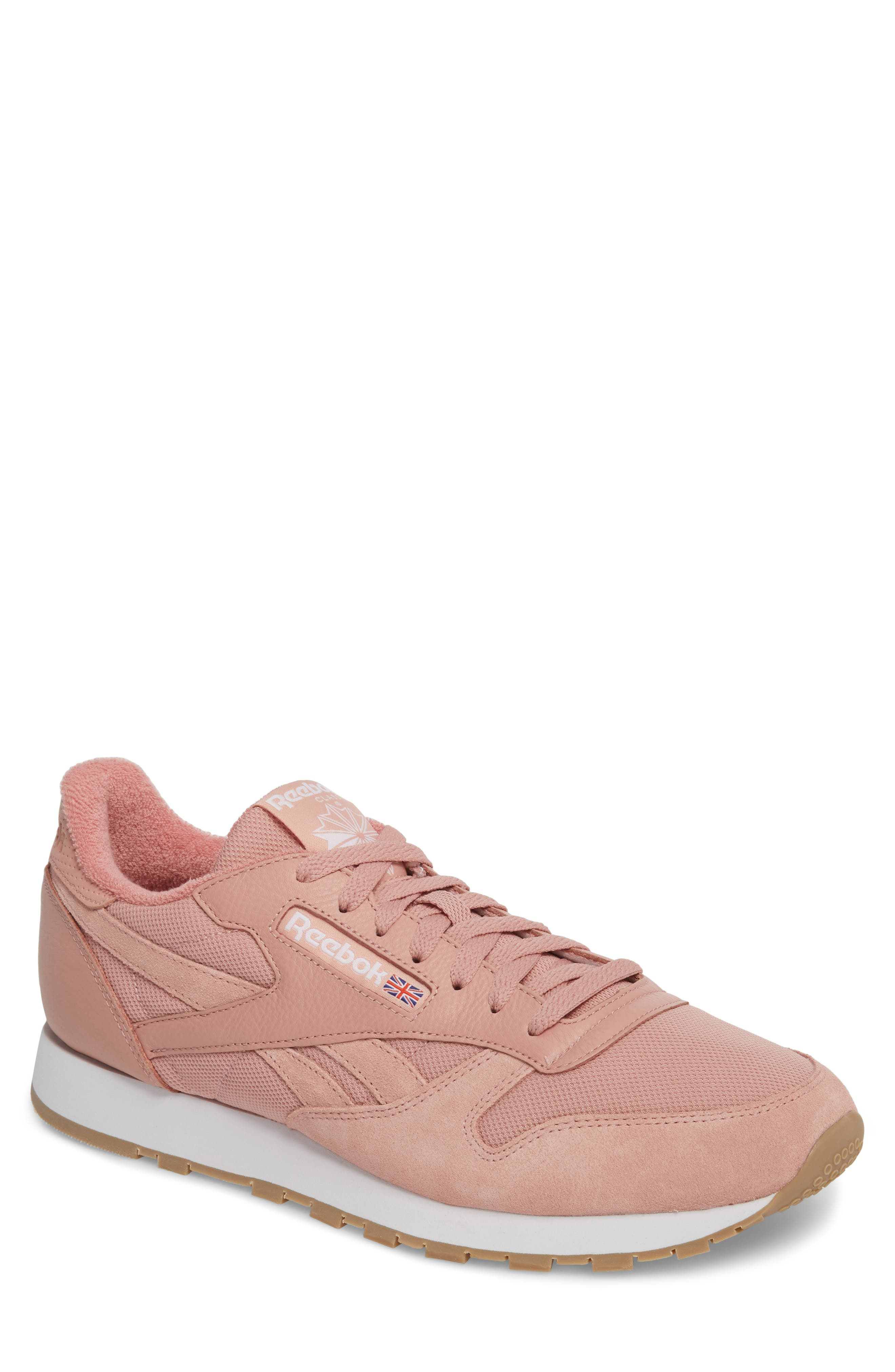 ESTL Classic Leather Sneaker,                             Main thumbnail 1, color,                             Chalk Pink/ White