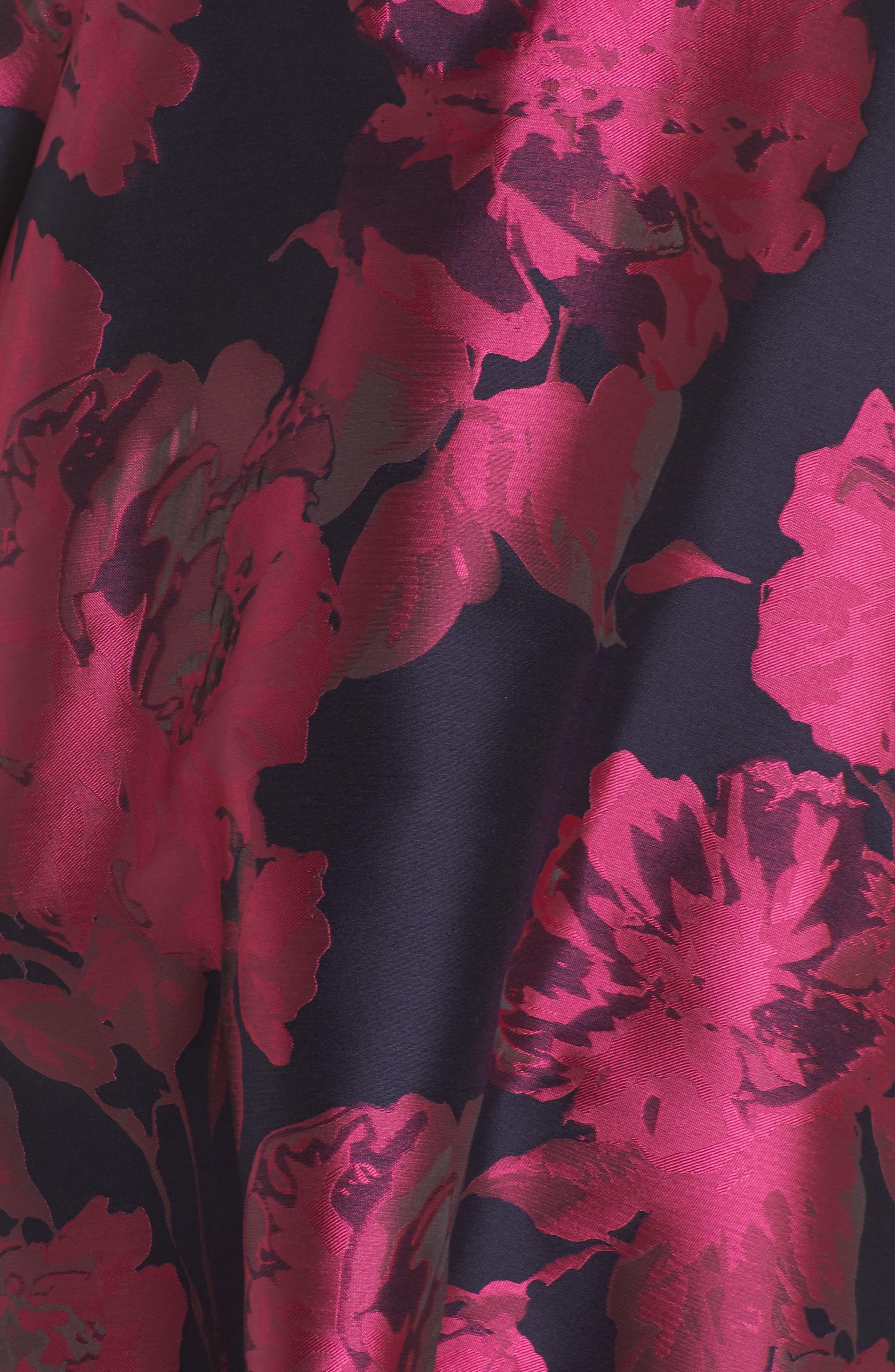 Alternate Image 5  - Xscape Floral Brocade Fit & Flare Dress