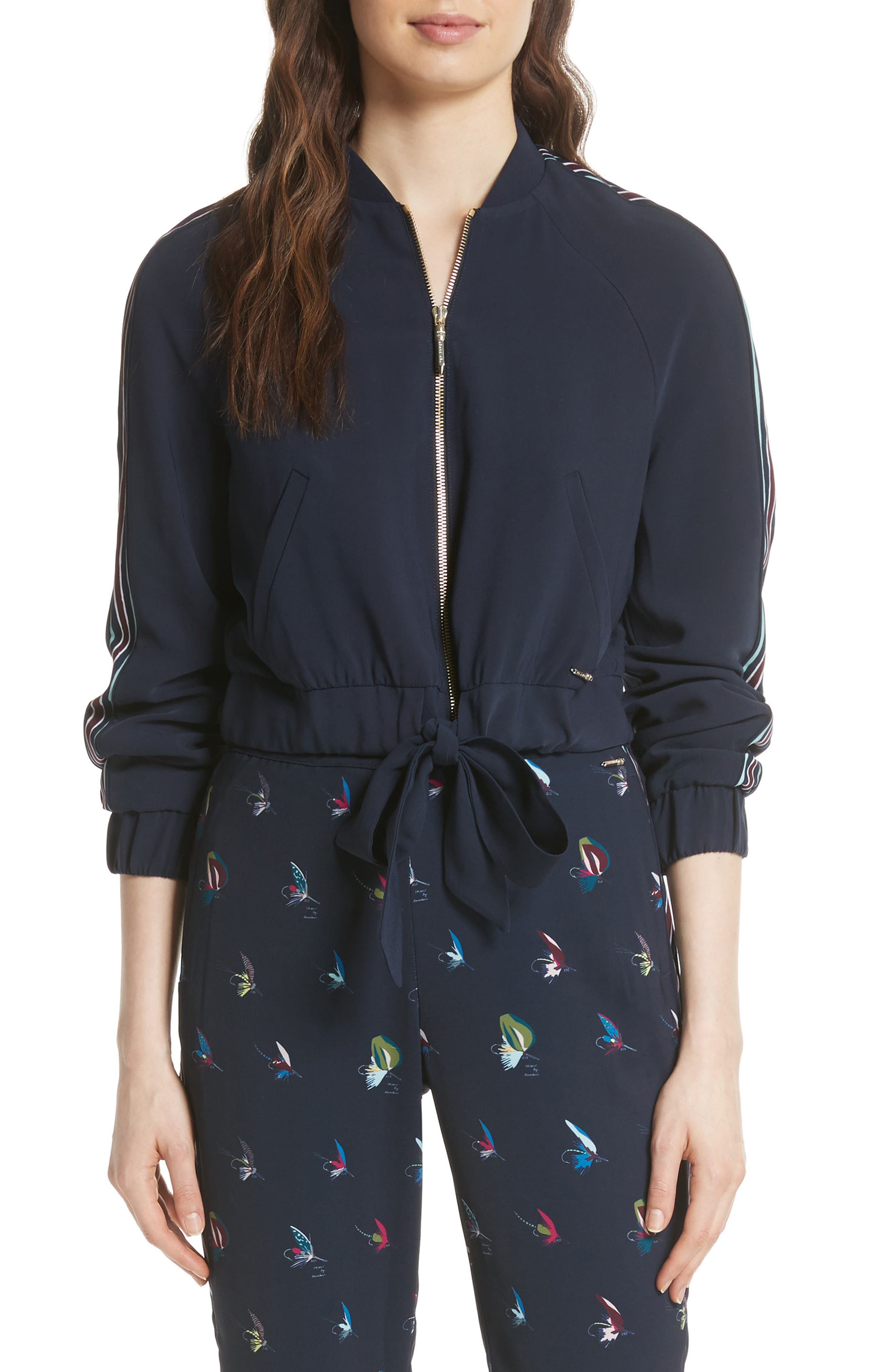 Colour by Numbers Imeelia Track Jacket,                             Main thumbnail 1, color,                             Navy