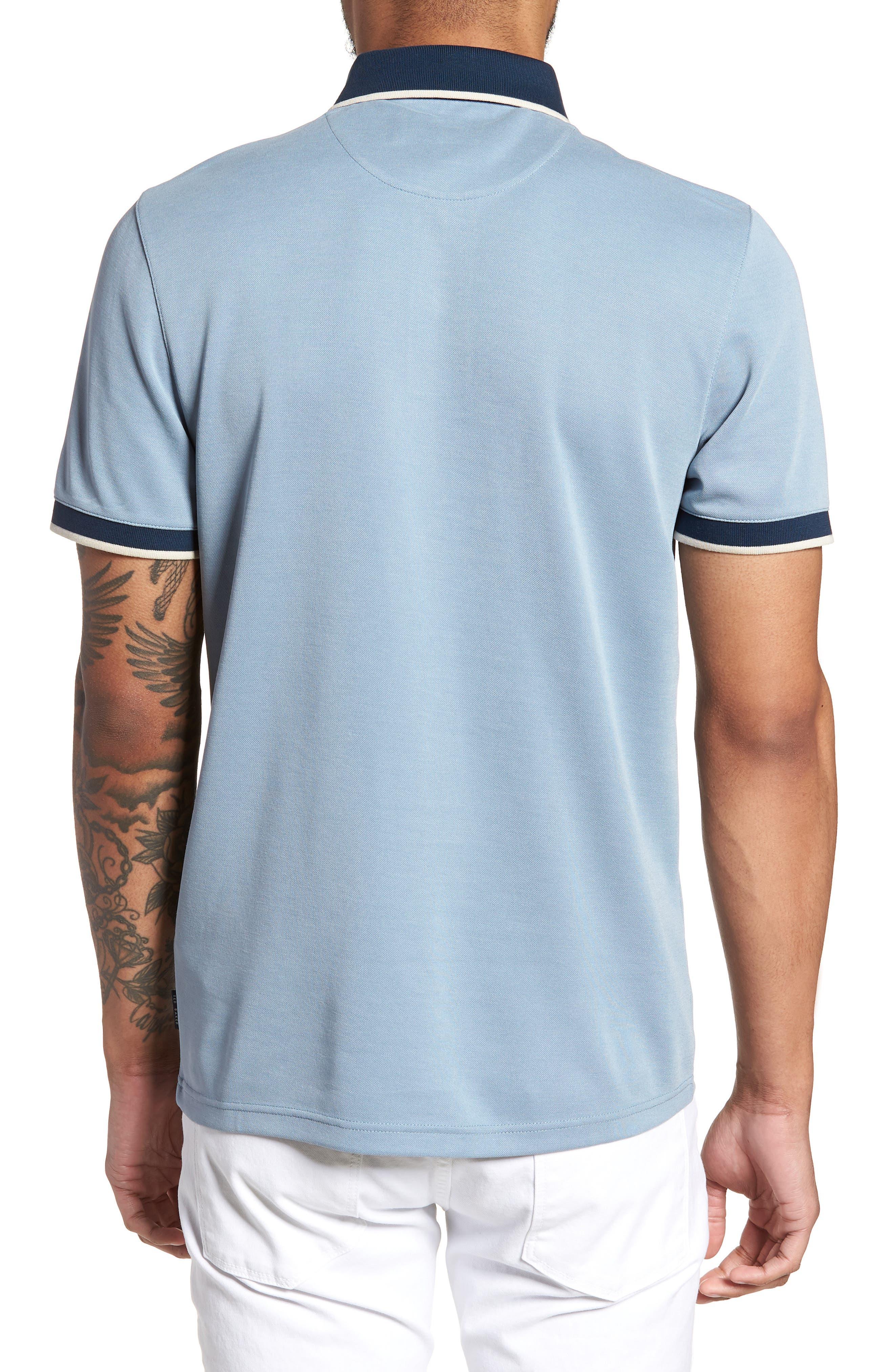 Howl Trim Fit Polo Shirt,                             Alternate thumbnail 2, color,                             Blue
