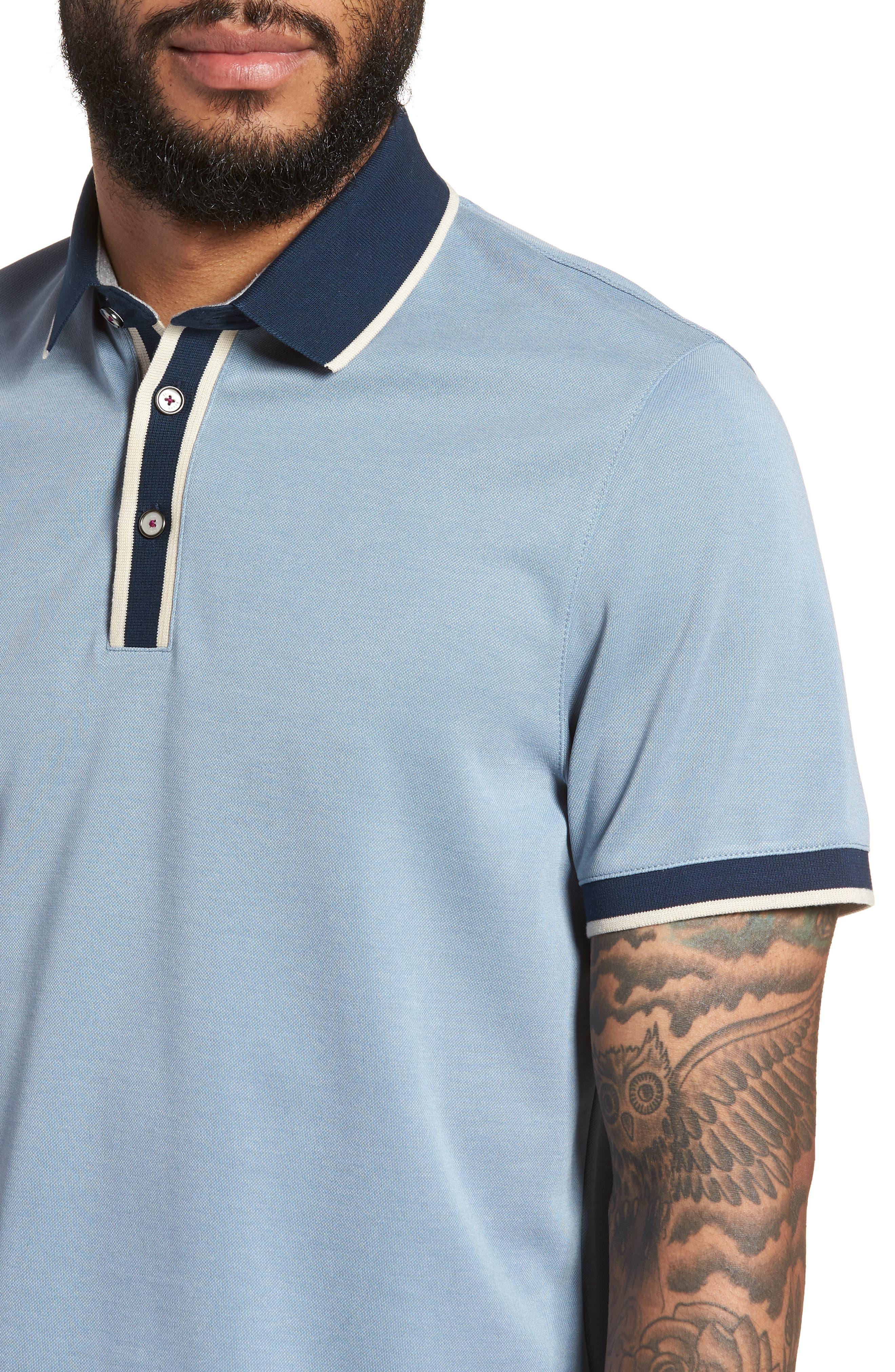 Howl Trim Fit Polo Shirt,                             Alternate thumbnail 4, color,                             Blue