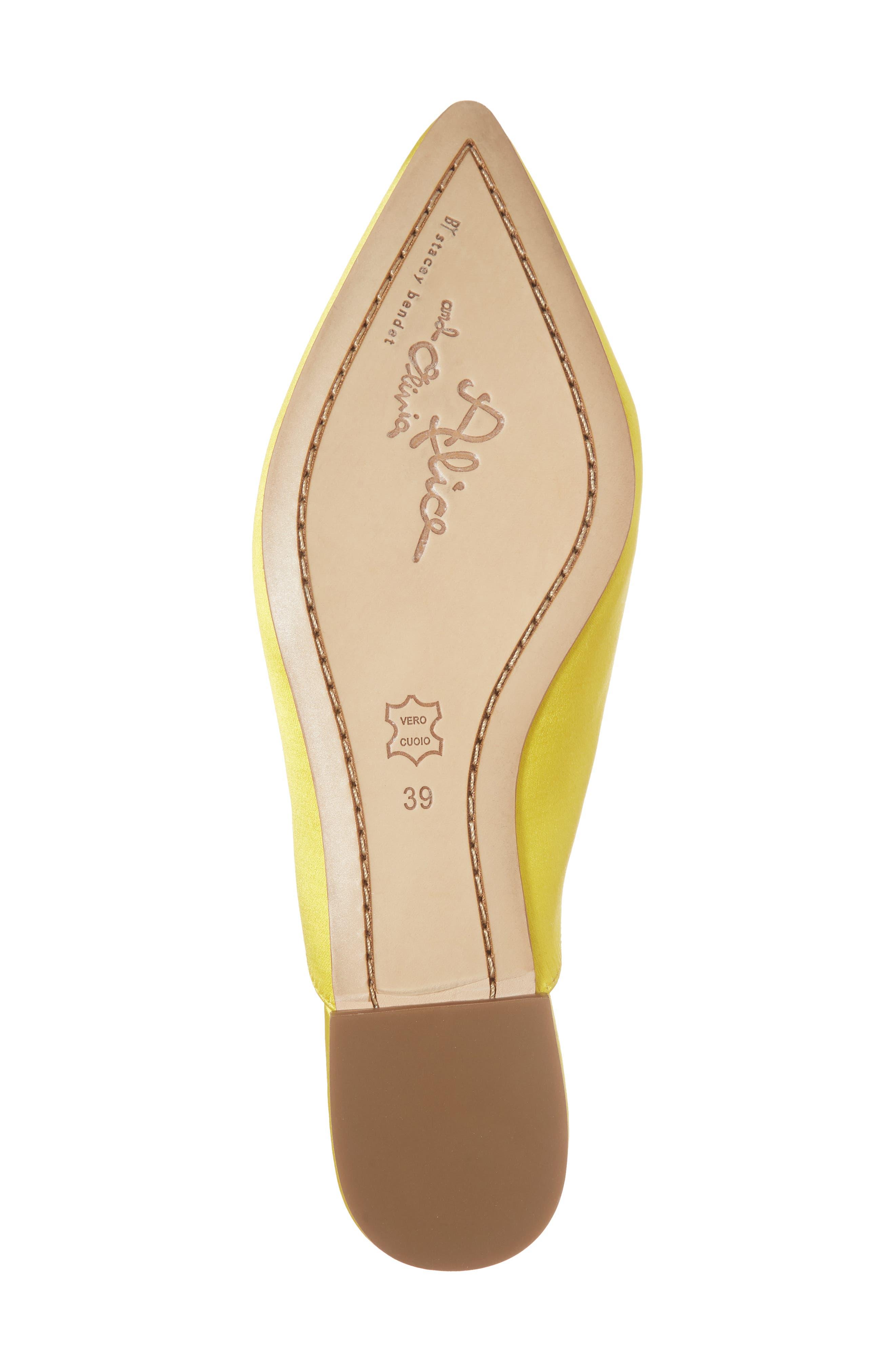 Lilly Crystal Embellished Loafer Mule,                             Alternate thumbnail 5, color,                             Dandelion