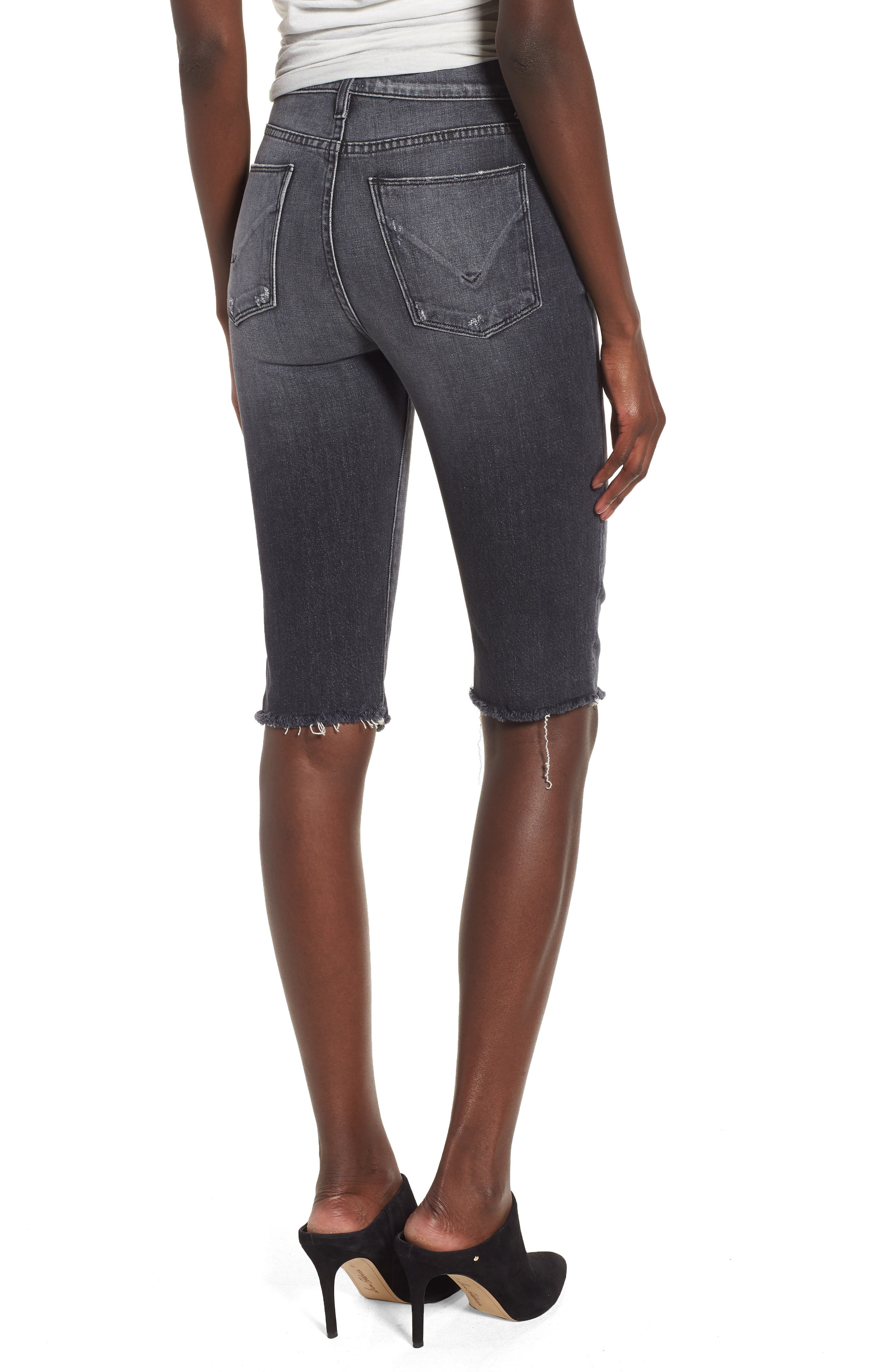 Alternate Image 2  - Hudson Jeans Zoeey High Waist Cutoff Boyfriend Shorts (Malice)