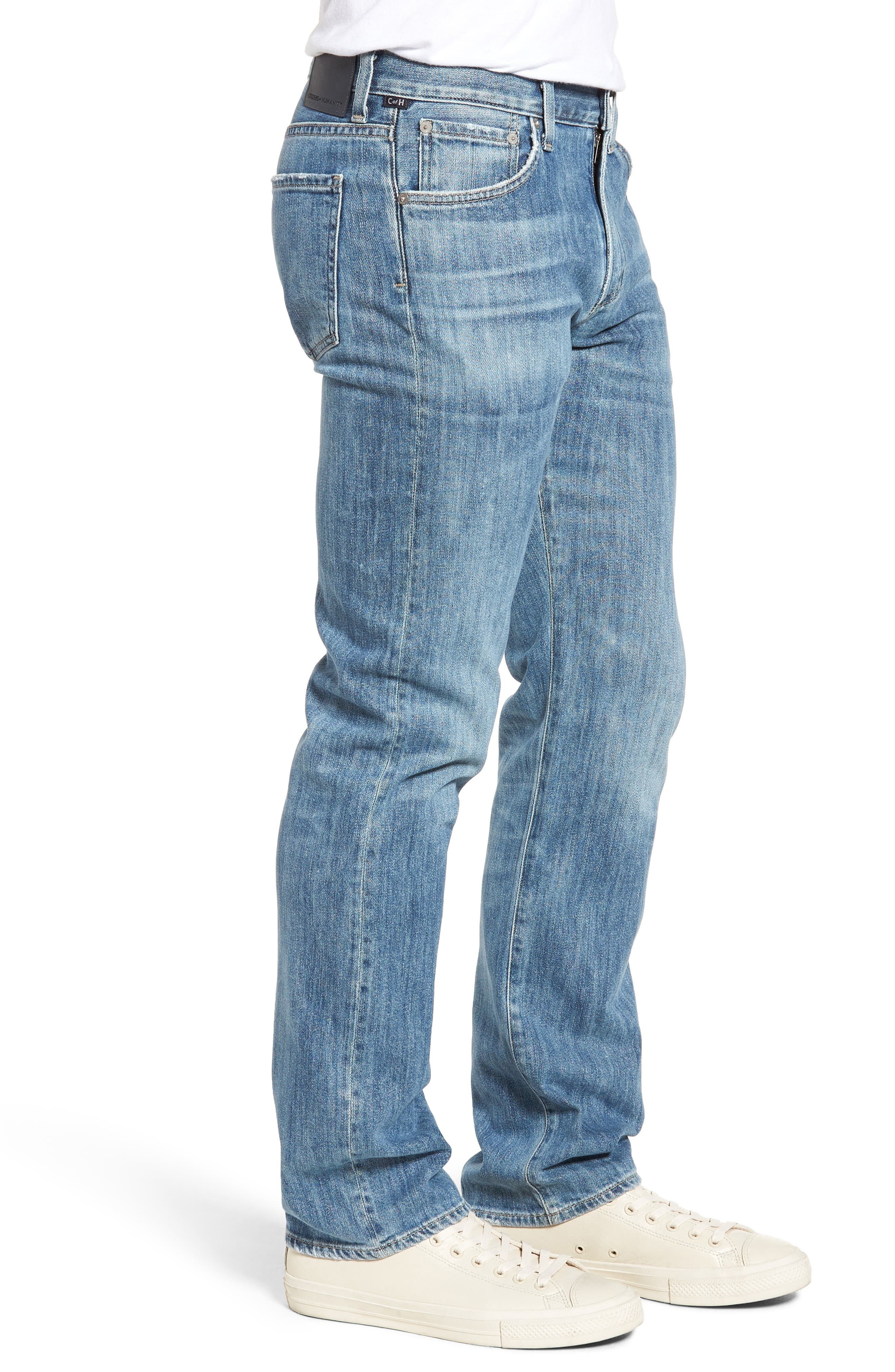 Sid Straight Leg Jeans,                             Alternate thumbnail 3, color,                             Colebrook