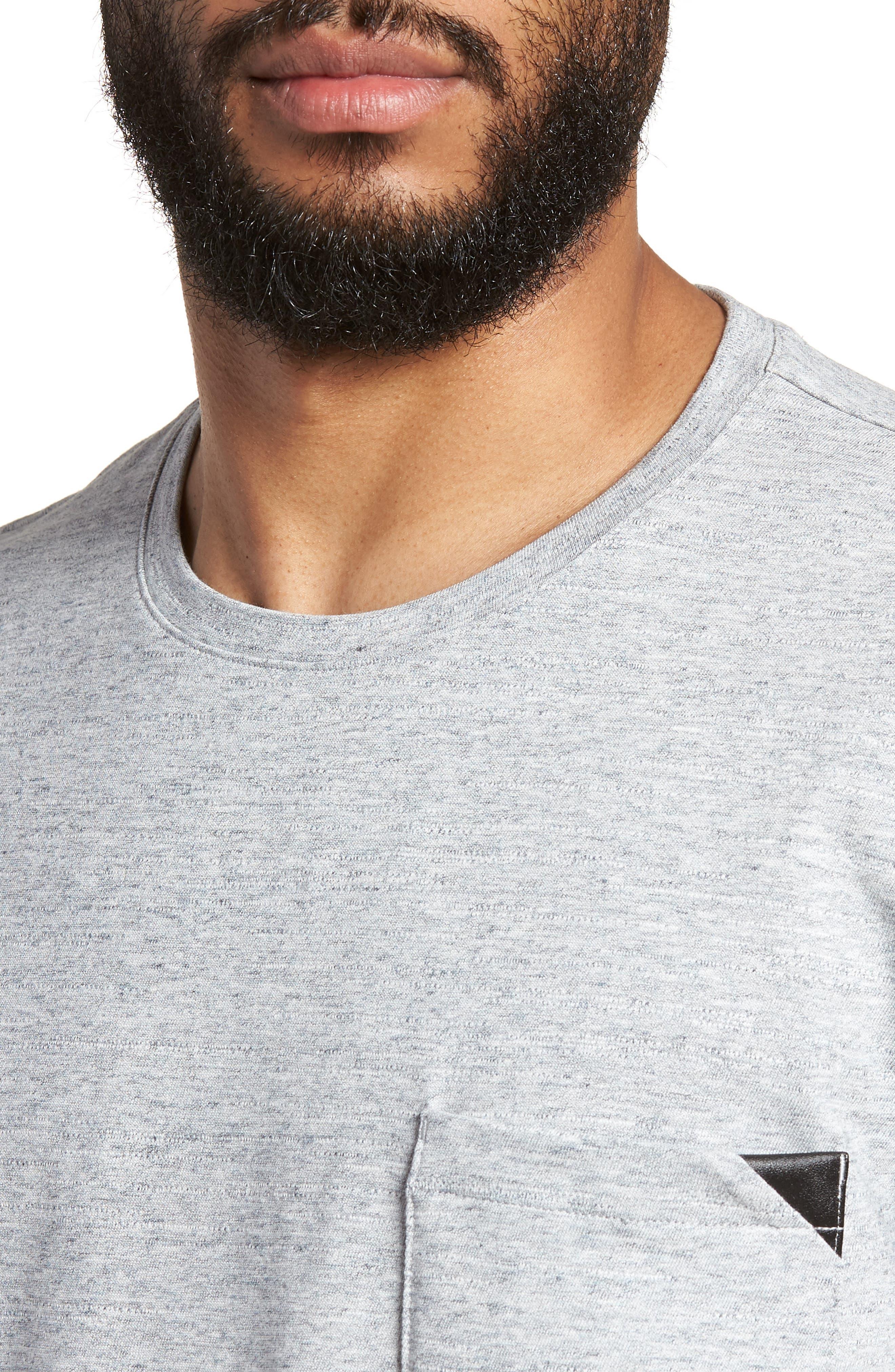 Dohnny Crewneck T-Shirt,                             Alternate thumbnail 4, color,                             Grey