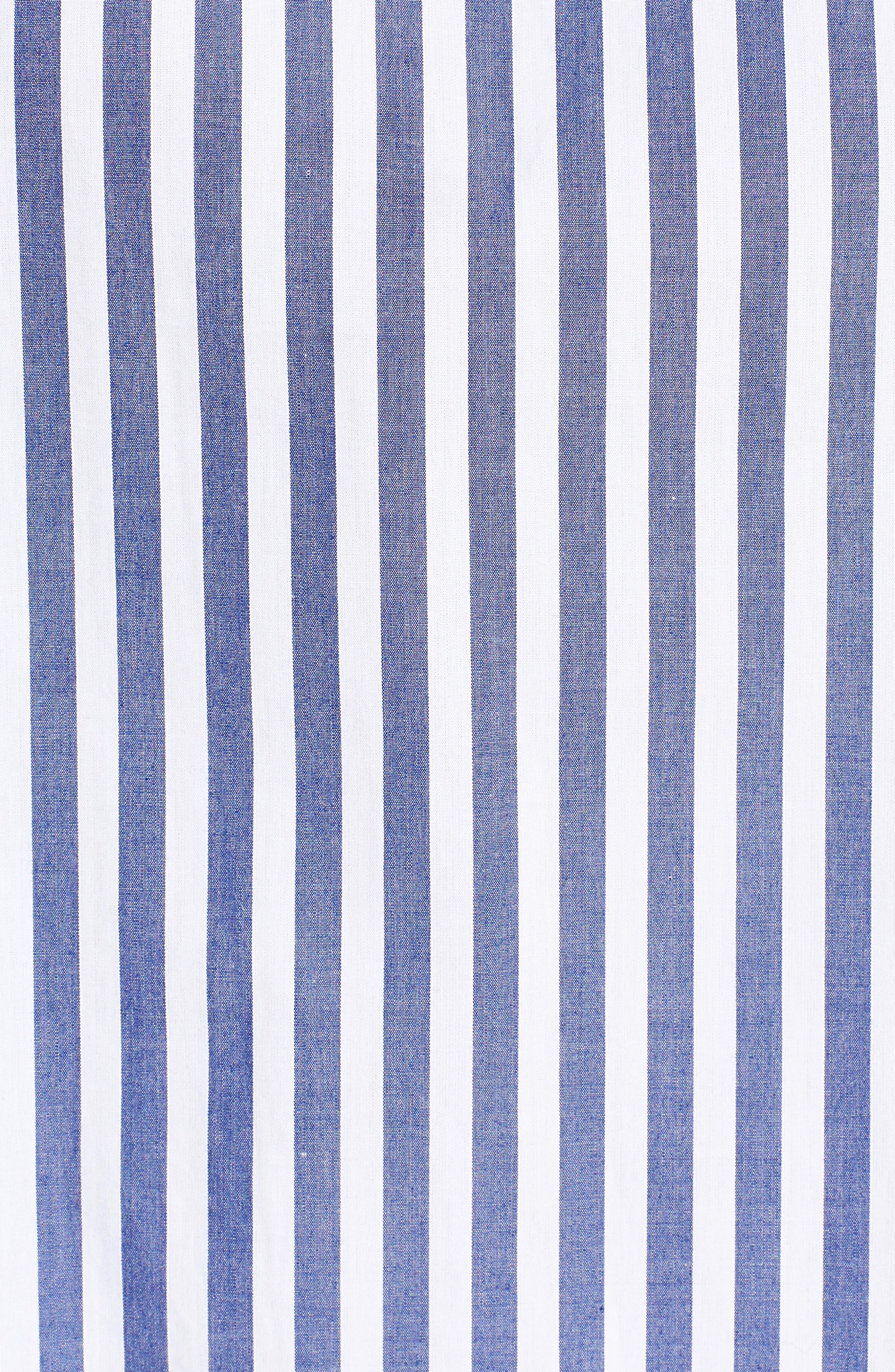 Valeria Stripe Stretch Cotton Top,                             Alternate thumbnail 6, color,                             Blue/ White