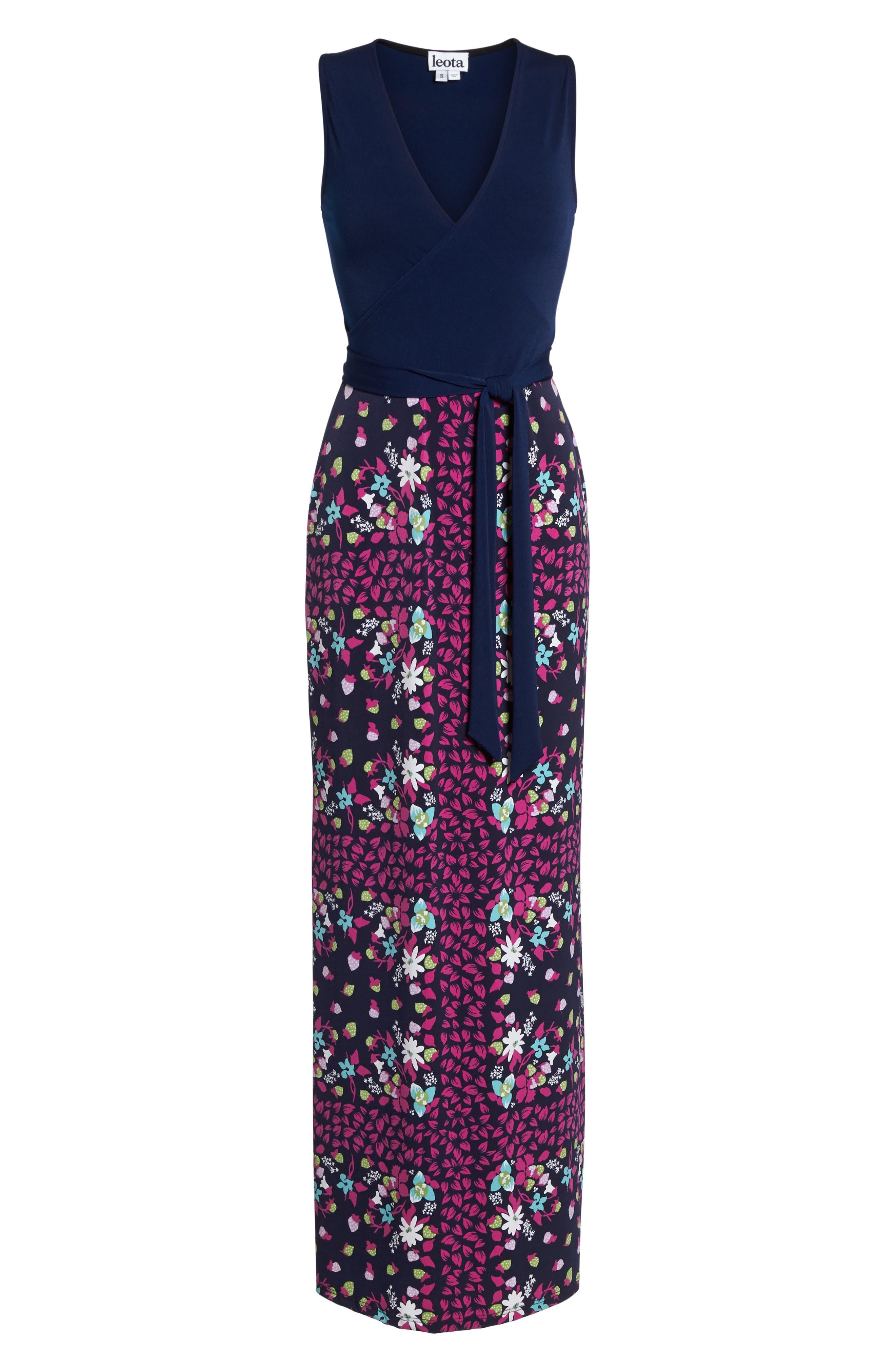 Perfect Faux Wrap Maxi Dress,                             Alternate thumbnail 7, color,                             Gardner