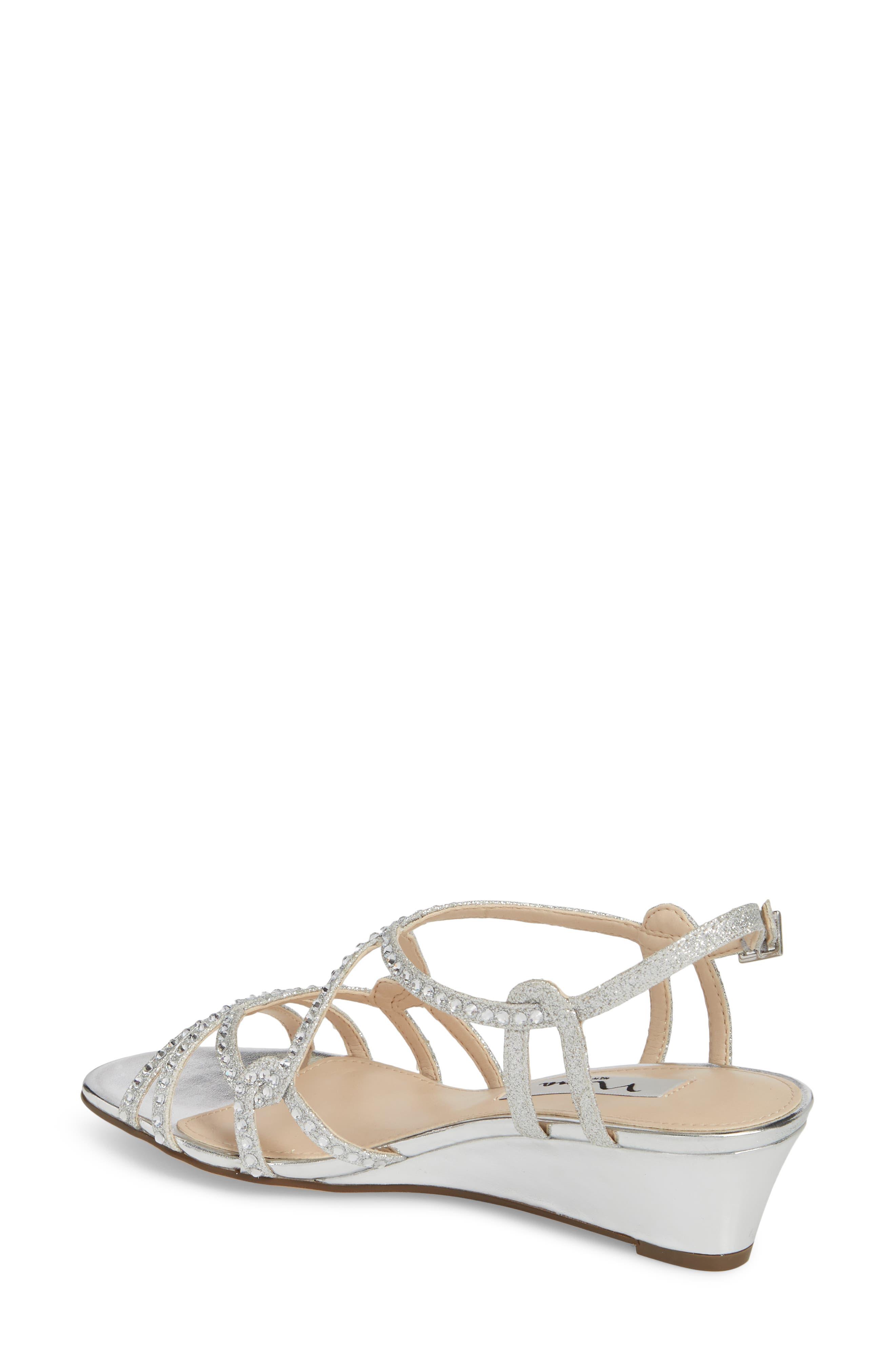 Finola Sandal,                             Alternate thumbnail 2, color,                             Silver Glitter Fabric