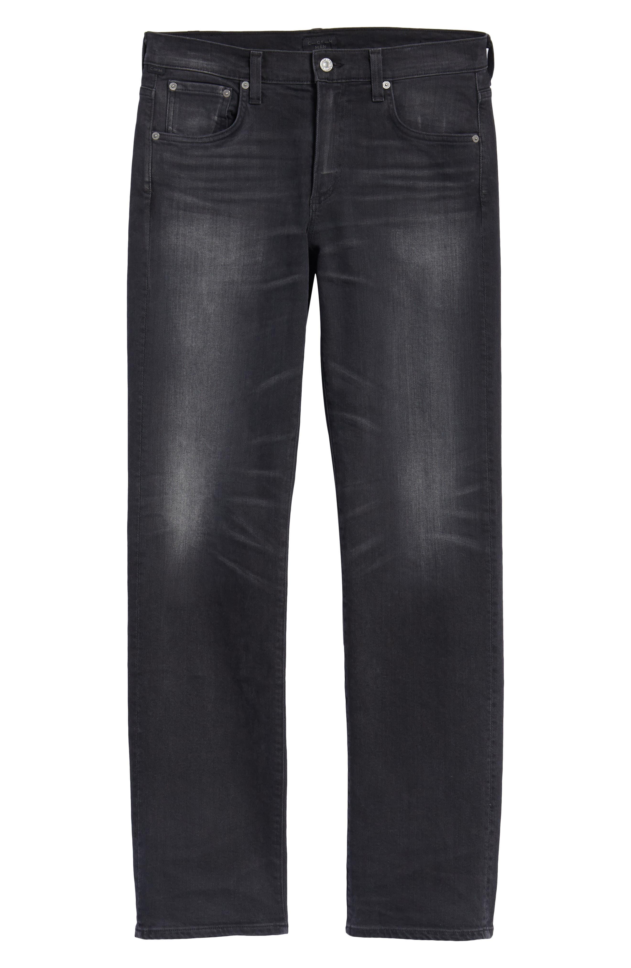 Side Straight Leg Jeans,                             Alternate thumbnail 6, color,                             Lyric