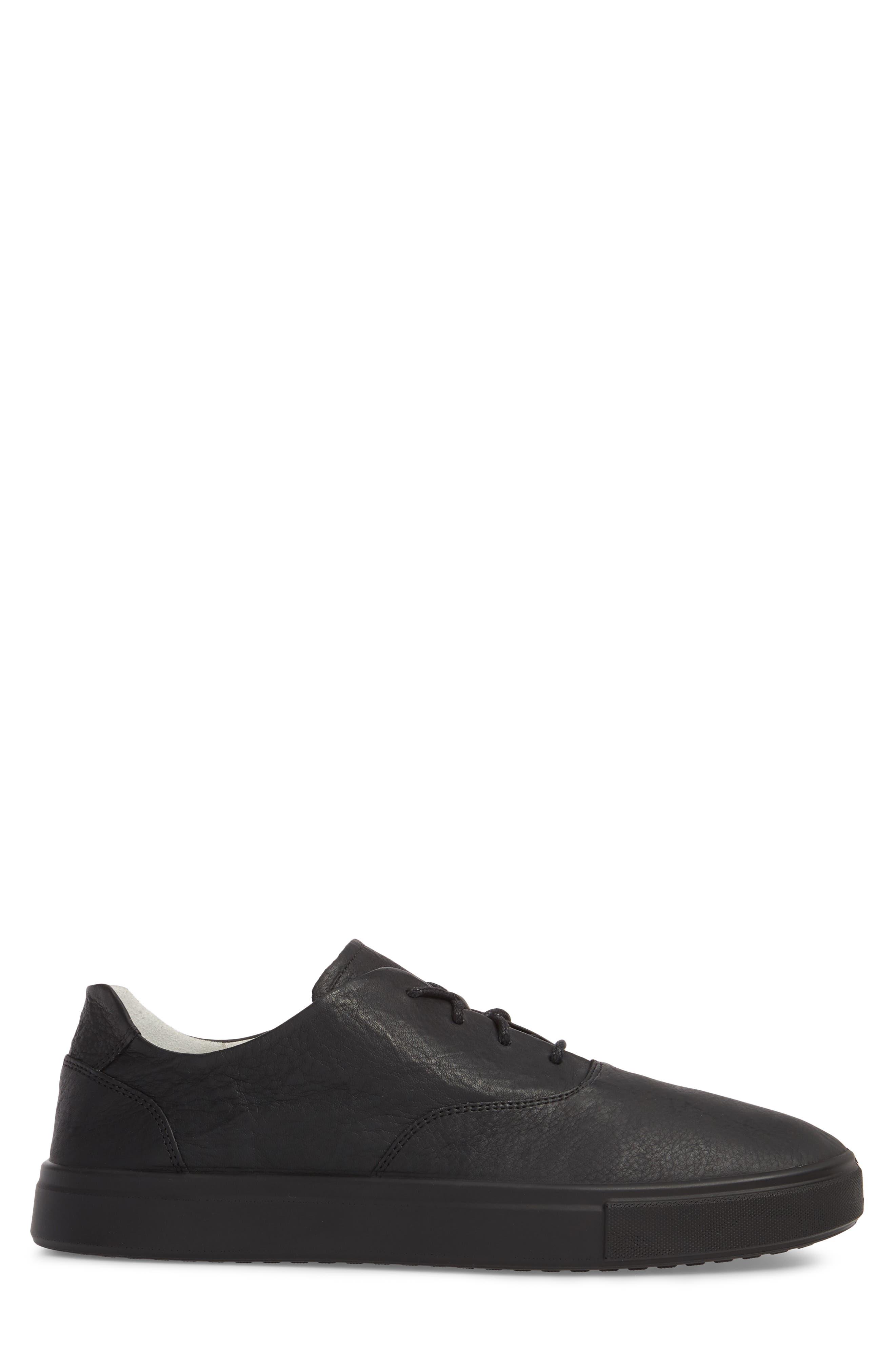 Kyle Low Top Sneaker,                             Alternate thumbnail 3, color,                             Rinsed Black Leather